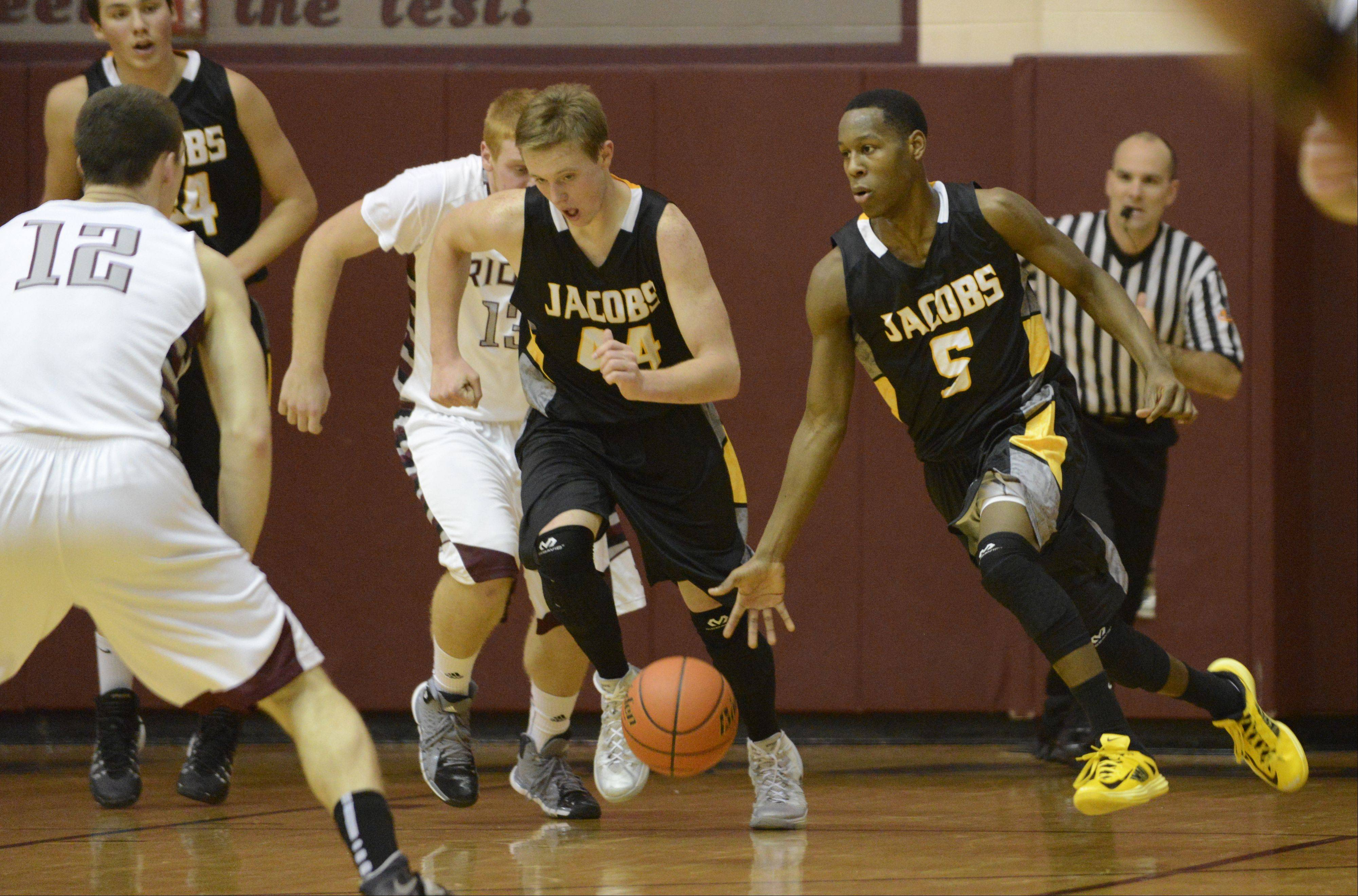 Images from the Jacobs vs. Prairie Ridge boys basketball game Tuesday, December 17, 2013.