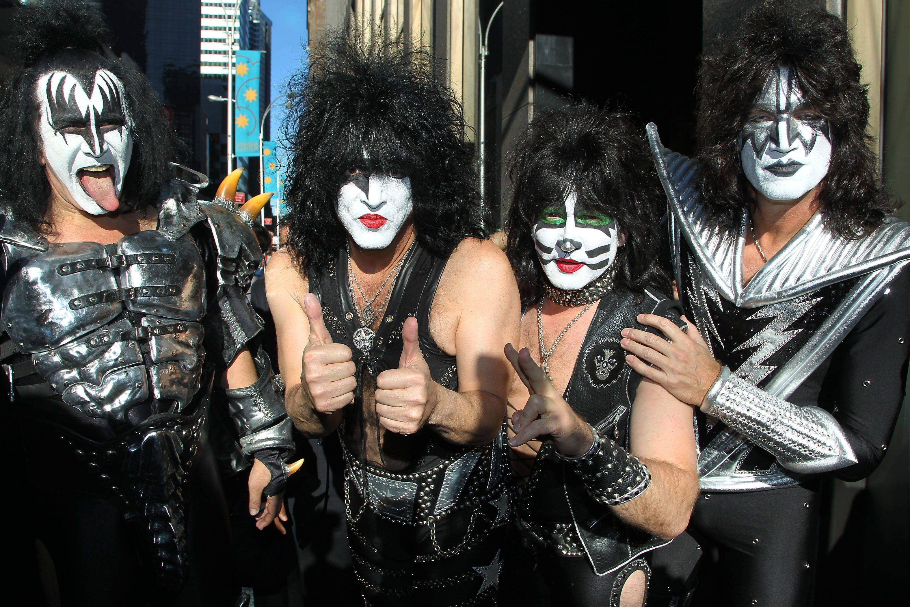 Gene Simmons, Paul Stanley, Eric Singer and Tommy Thayer of KISS will be inducted into the 2014 Rock and Roll Hall of Fame on April 10 at the Barclays Center in New York.