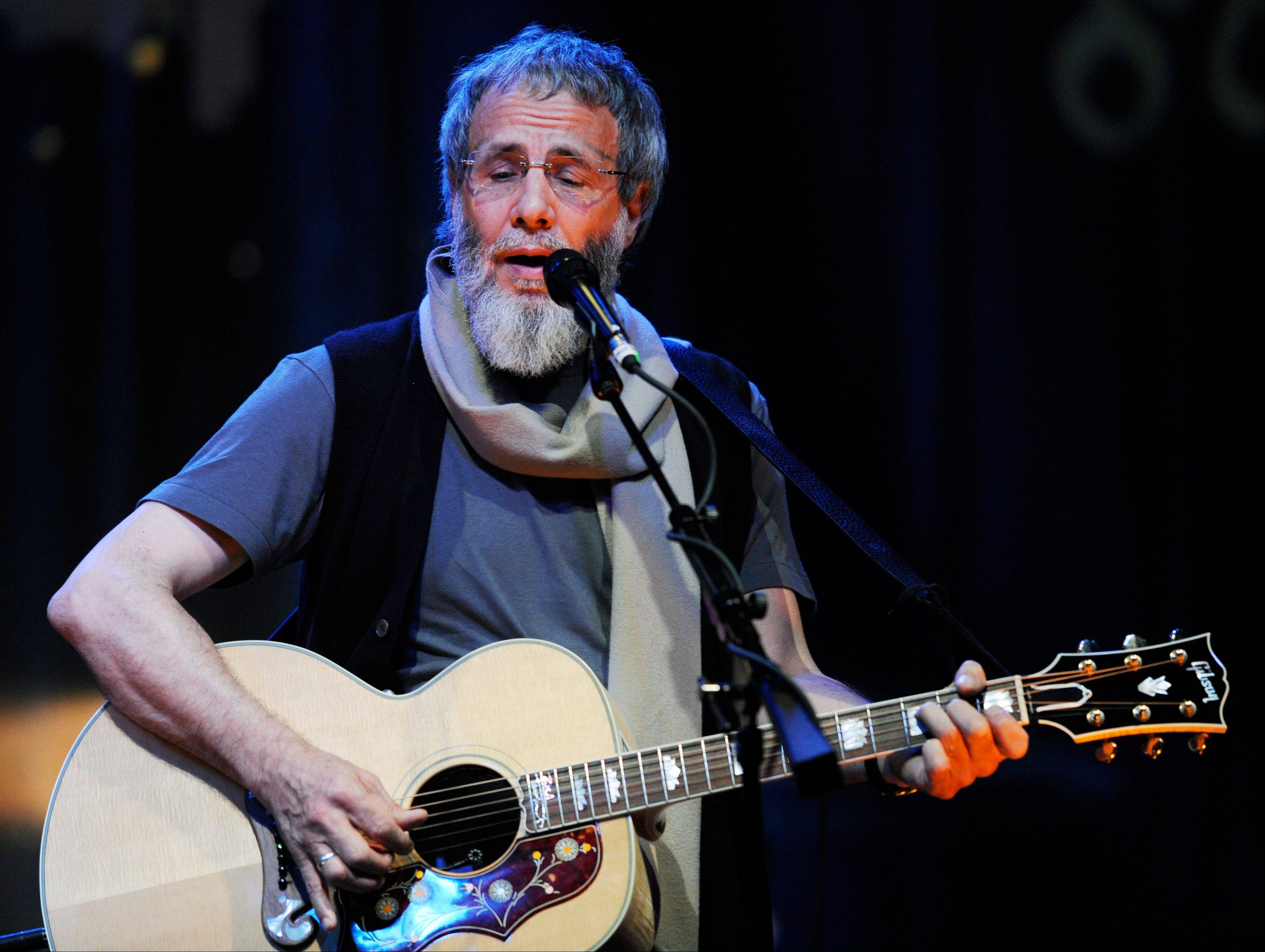 Yusuf Islam, previously Cat Stevens, during a sound check for his concert at the El Rey Theater in Los Angeles. Islam will be inducted into the 2014 Rock and Roll Hall of Fame on April 10 at the Barclays Center in New York.