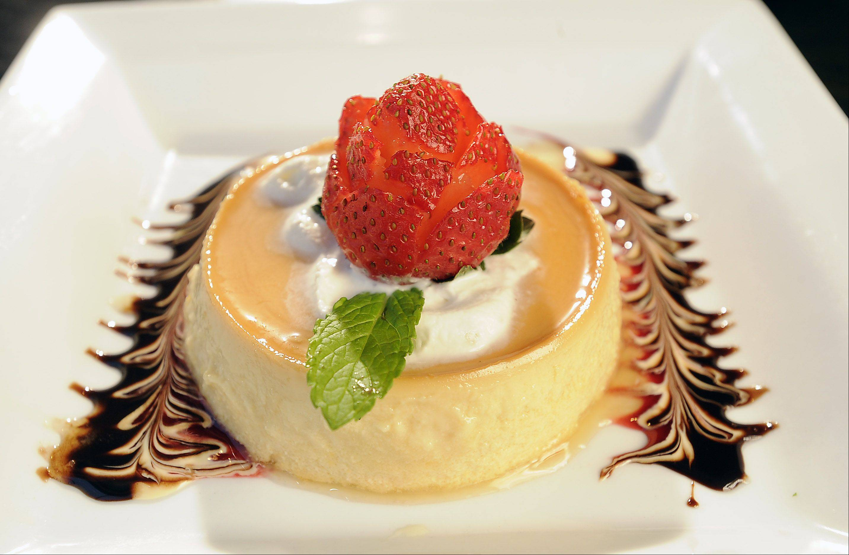 Mia's Cantina is proud of its homemade flan.