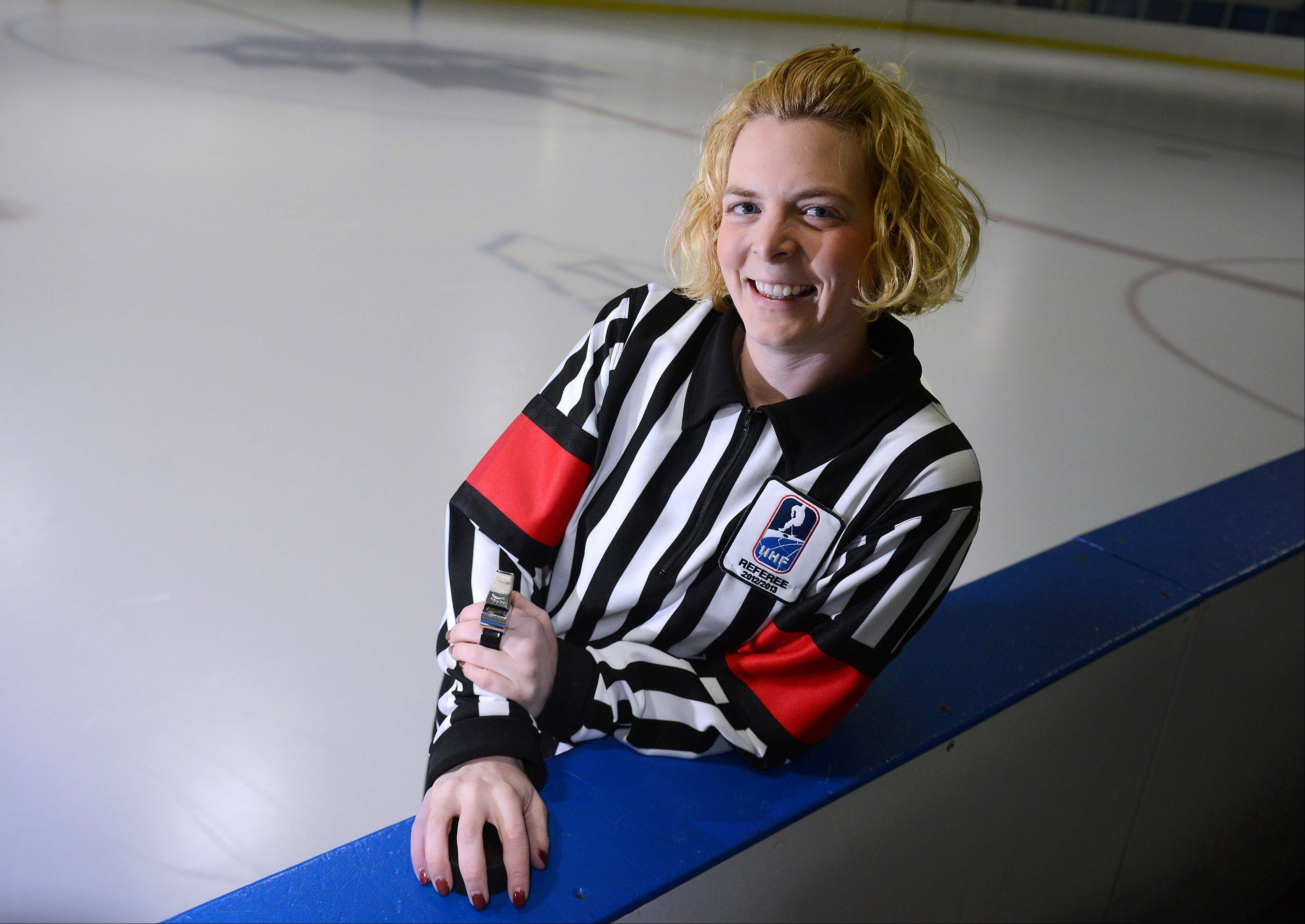 Erin Blair, 32, a Lisle native and health teacher in Carpentersville, will be heading to the 2014 Winter Olympics in Sochi to referee women's hockey. She was selected for the Olympics based, in part, on her performances at international women's hockey tournaments.
