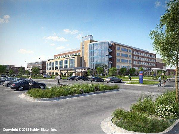 This rendering depicts the proposed Centegra Hospital-Huntley that would house 128 beds, a women�s center and an emergency department. The $233 million, 360,000-square-foot facility would go up on Haligus Road, between Algonquin and Reed roads.