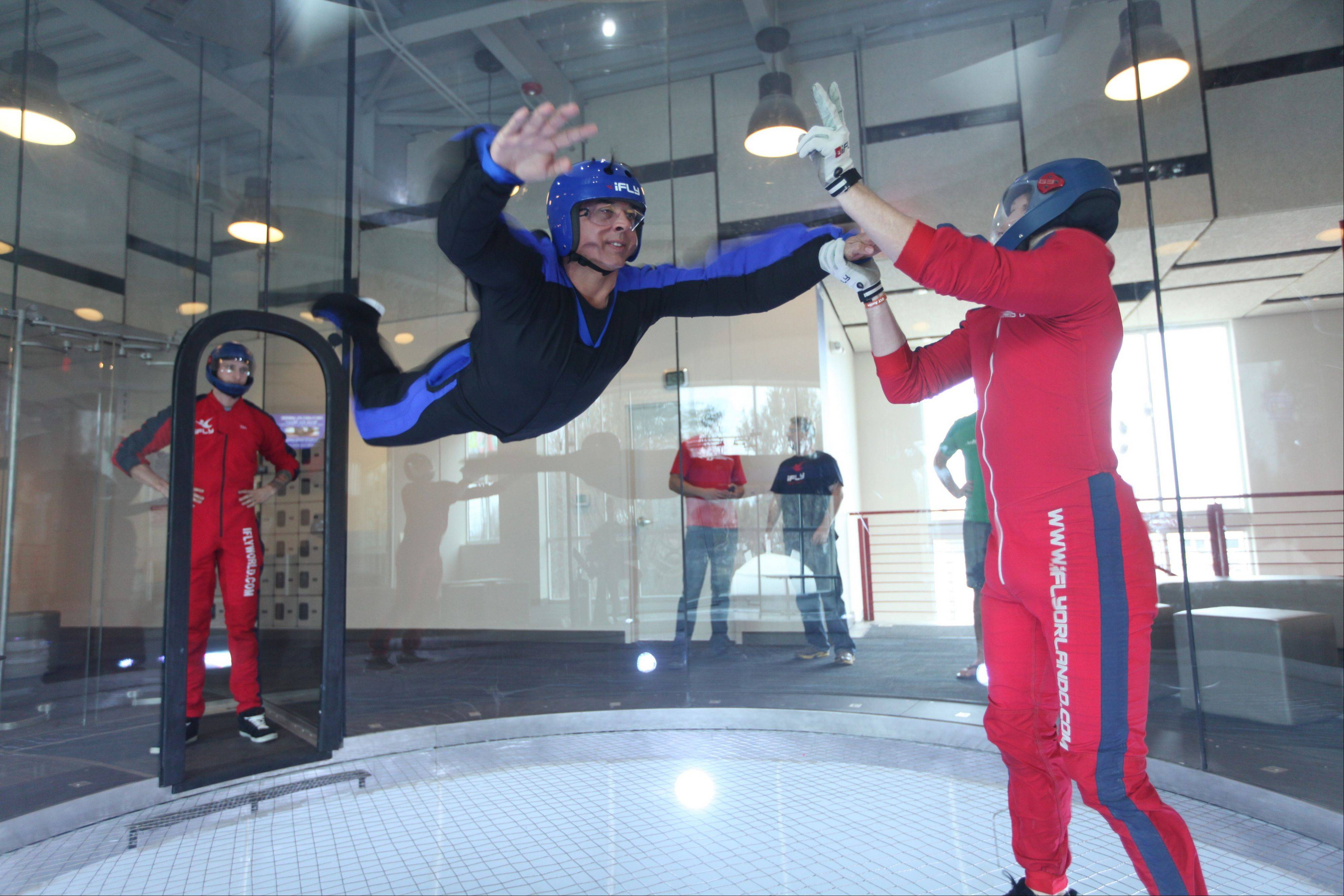 IFly is building an indoor sky-diving center in Naperville and hopes to open by April. The city council on Tuesday agreed to defer payment of electric infrastructure availability fees due from iFly and other developers seeking building permits until the fees can be reviewed.