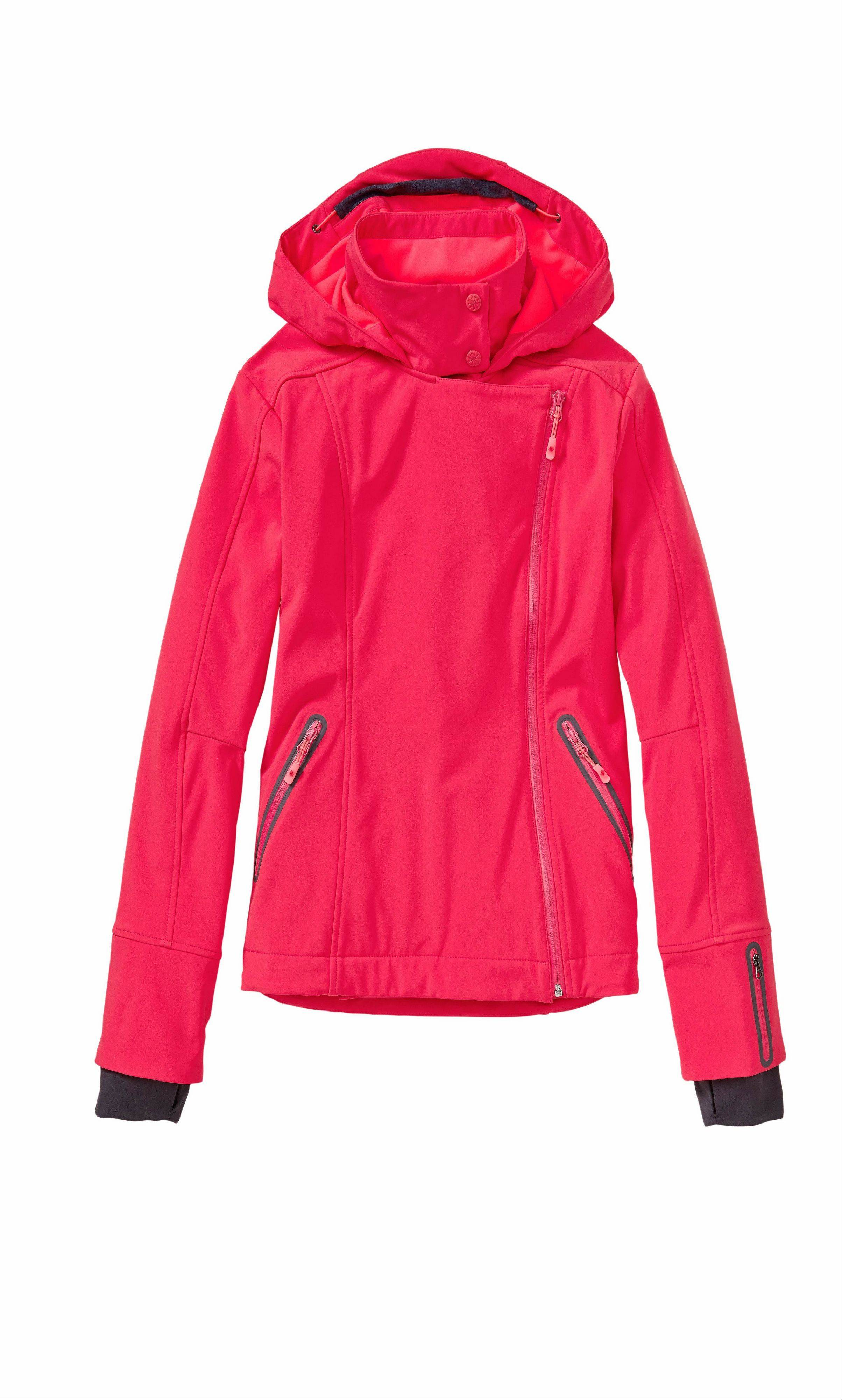 The sprint red/coralade Sun Valley Ski Jacket is one of Athleta's bright offerings this season.