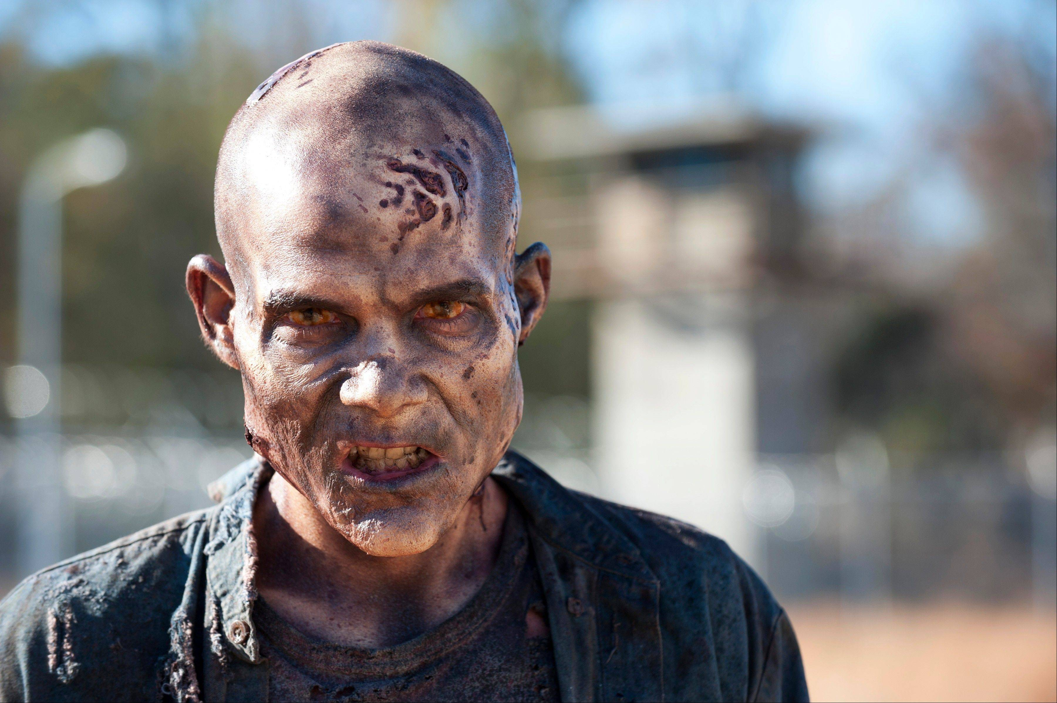 "A walker in Episode 16, ""Welcome to the Tombs,"" from Season 3 of the TV series,"