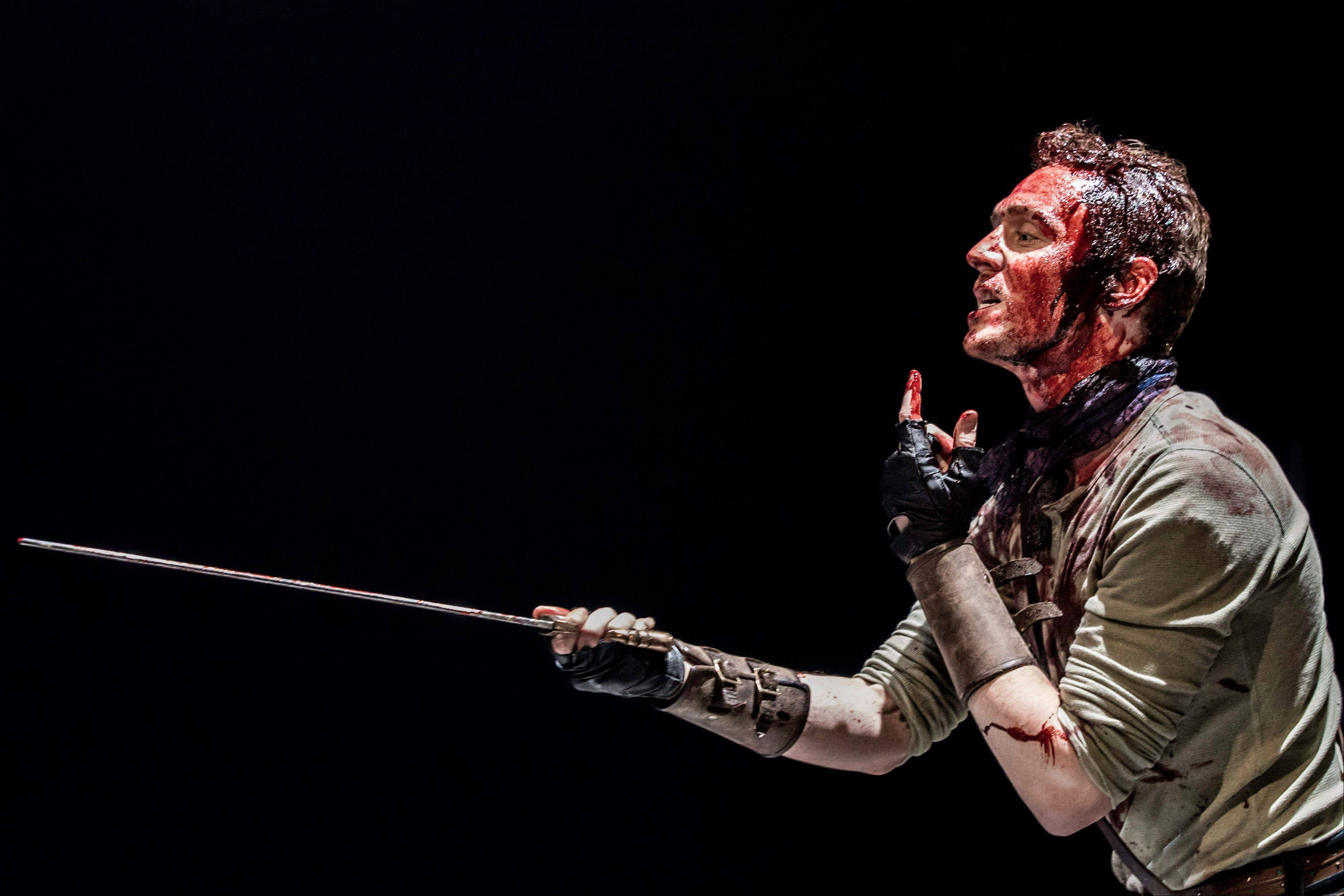 Actor Tom Hiddleston stars as Coriolanus in William Shakespeare's play, being performed at The Donmar warehouse in London.