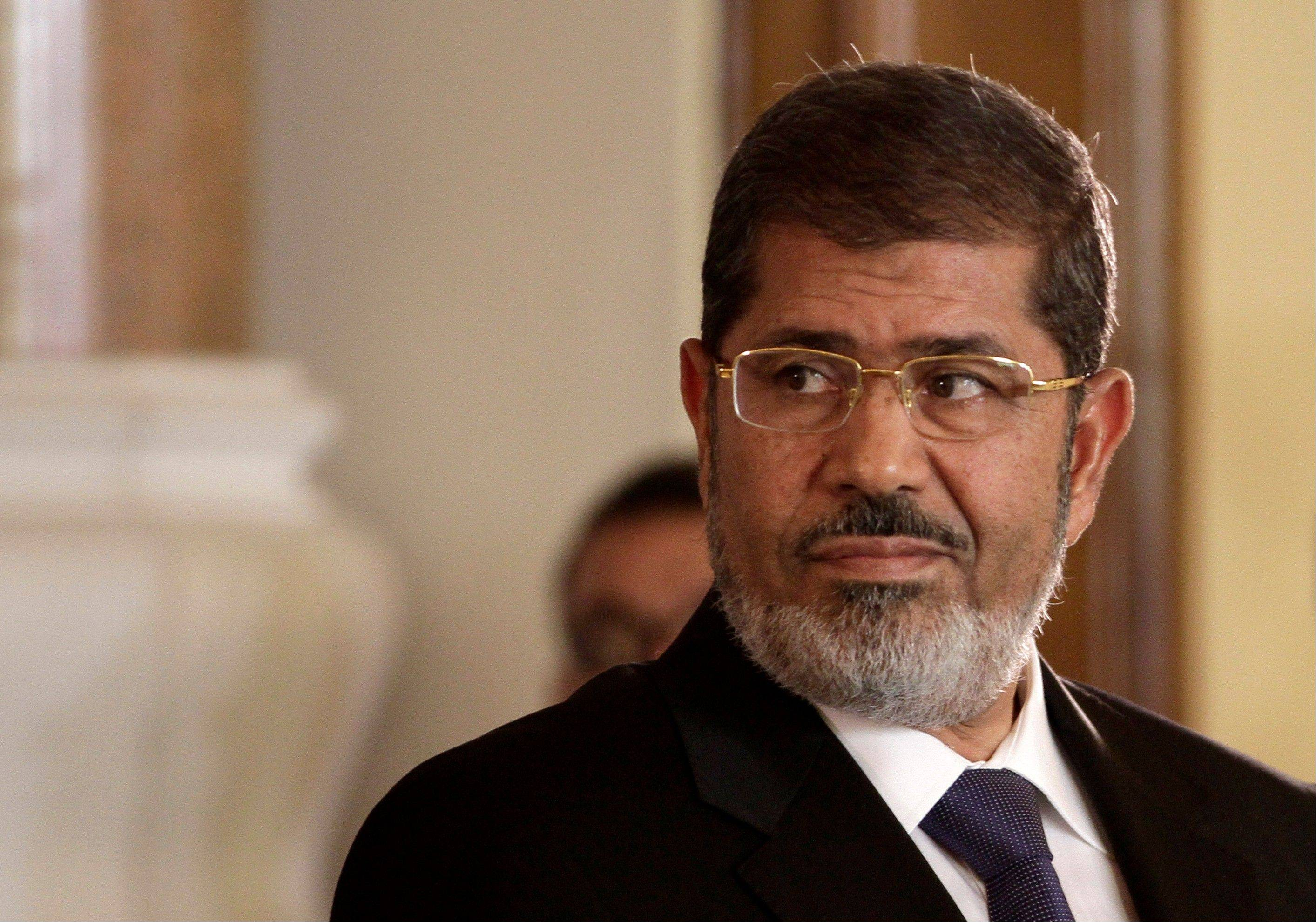 Egypt's top prosecutor referred toppled Islamist President Mohammed Morsi to trial Wednesday for conspiring with the Palestinian group Hamas, Lebanon's Hezbollah and others to carry out a campaign of violence in the Sinai Peninsula and beyond to destabilize the country following his ouster.
