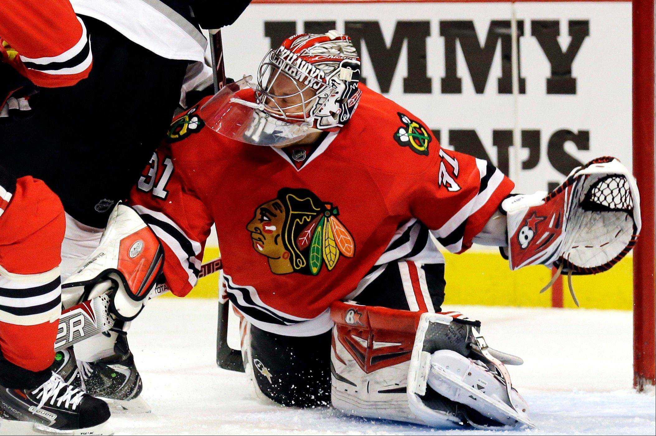 Antti Raanta is 7-1-1 with a 2.26 goals-against average and has helped keep the Blackhawks on top of the NHL.