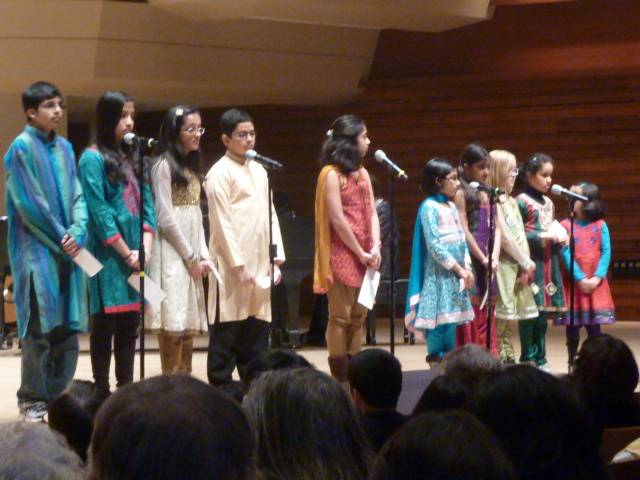 A group of Hindu Children participate in last year's World Peace Day Inter-Faith Prayer Service