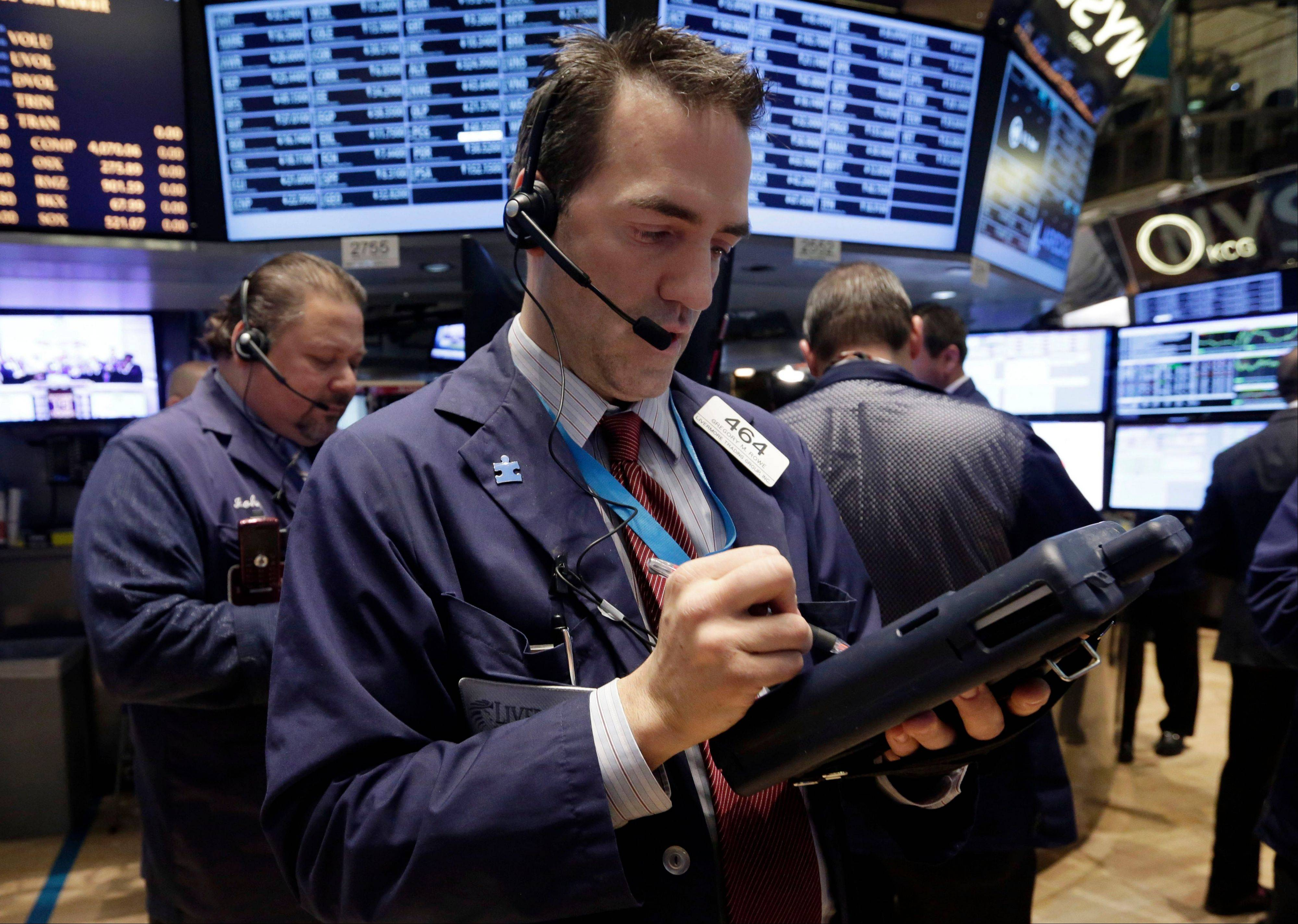 The Standard & Poor�s 500 Index retreated Thursday from a record, set after the Federal Reserve�s decision to cut stimulus a day earlier, as investors weighed economic data that included jobless claims and home sales.