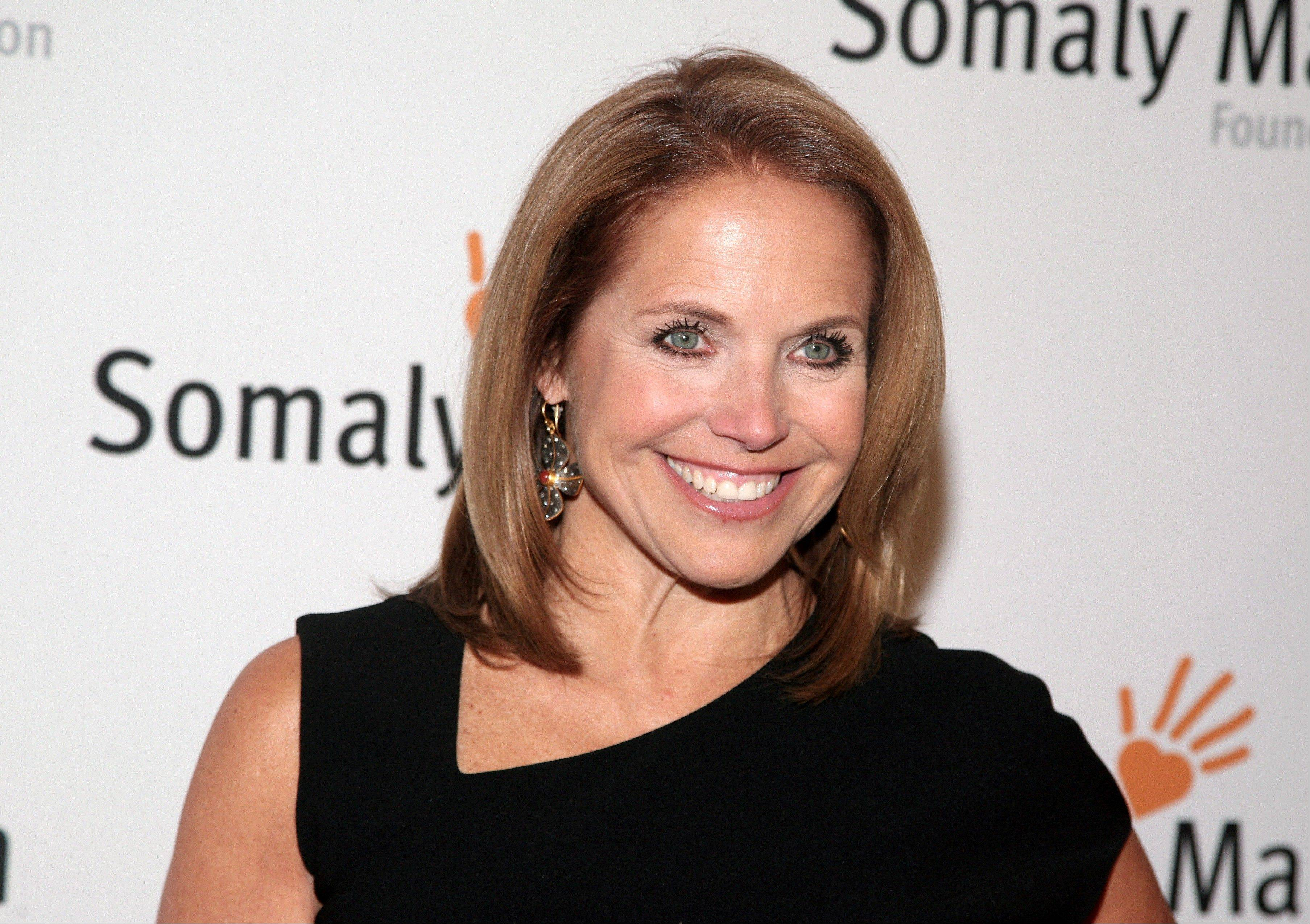 TV host Katie Couric at the Somaly Mam Foundation Gala in New York.