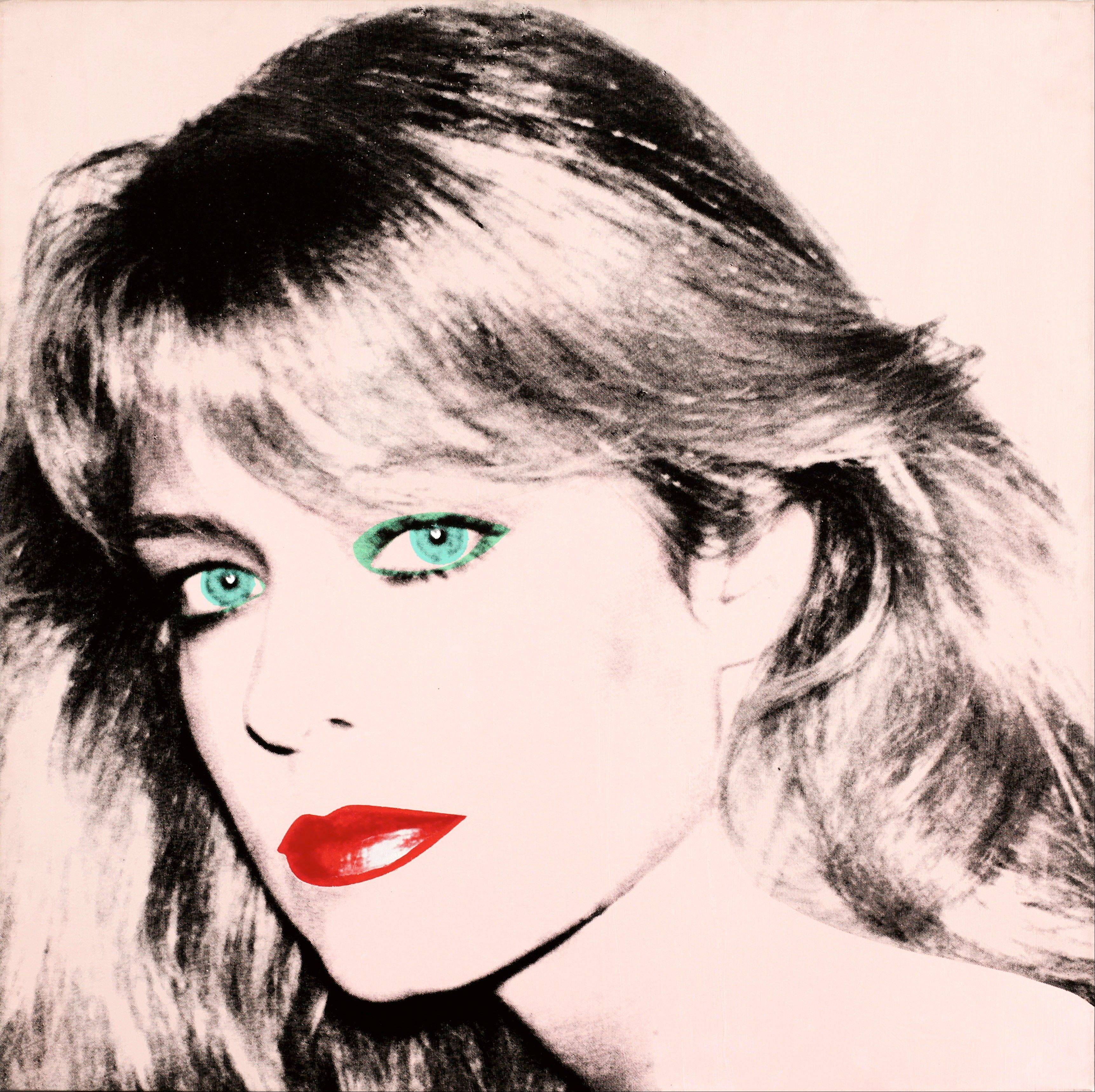 "Andy Warhol's painting of ""Farrah Fawcett,"" 1980."