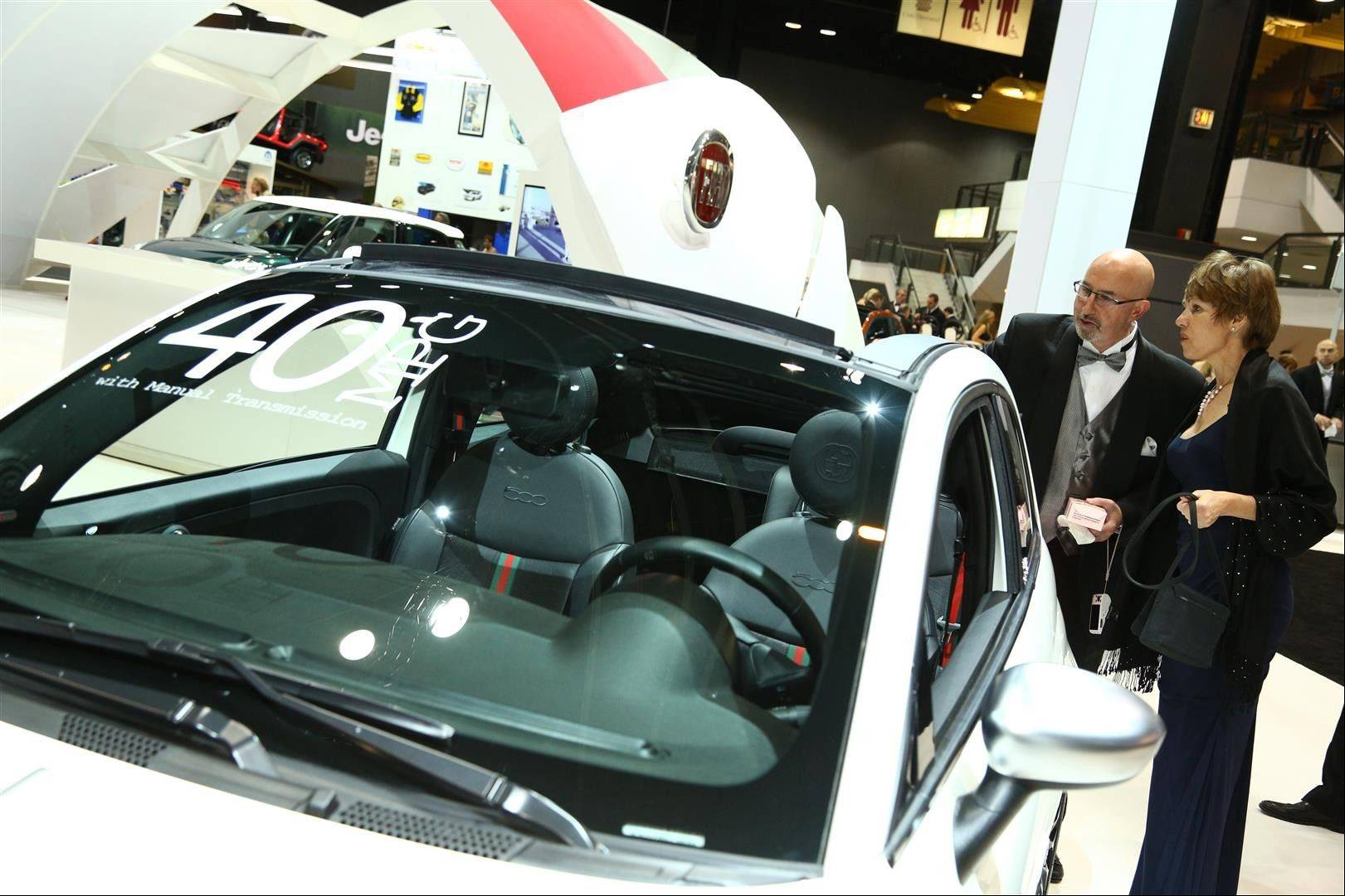Attendees enjoy an elegant way to see the Chicago Auto Show while raising money for 18 area nonprofits.