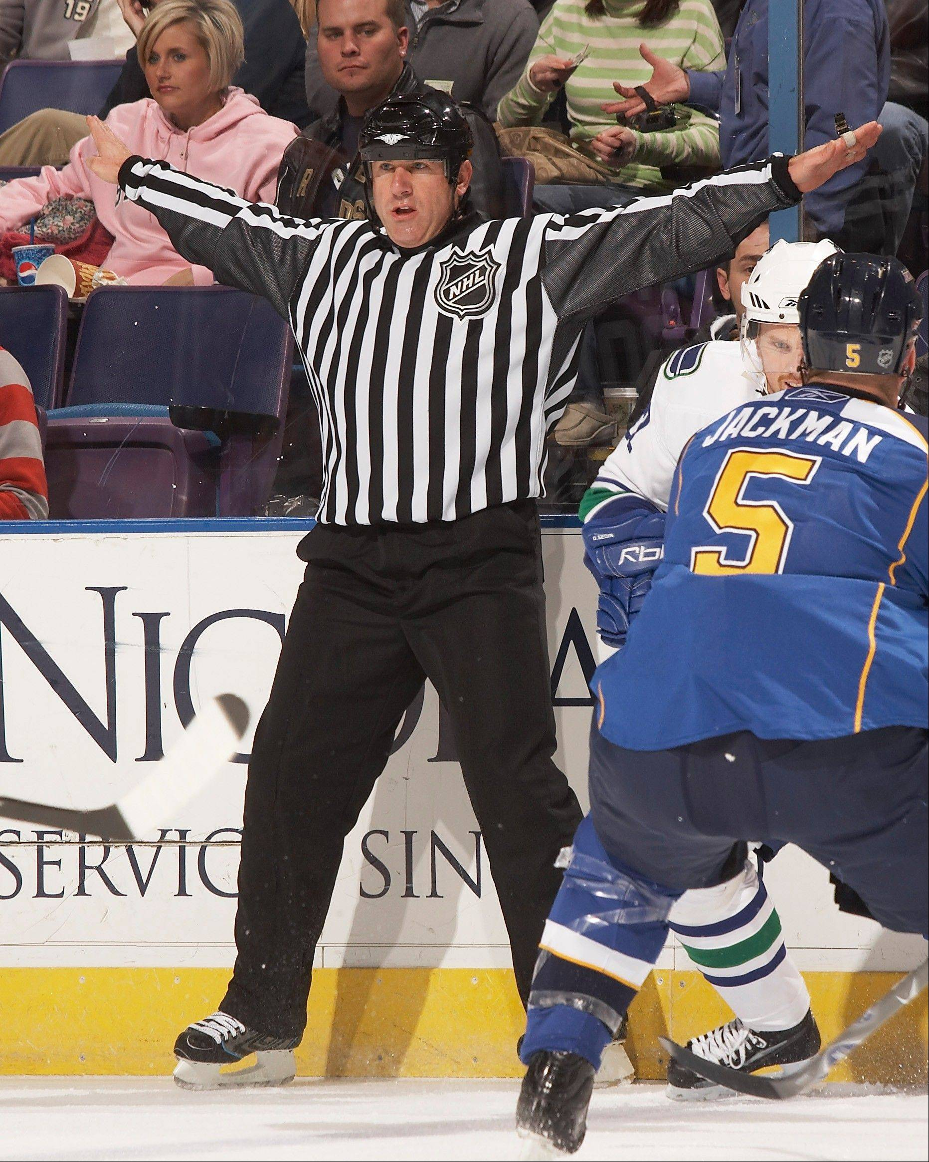Photo courtesy of Andy McElmanAlgonquin resident and Palatine native Andy McElman is thrilled about his upcoming participation in Olympic Hockey in the Sochi Games as a linesman.