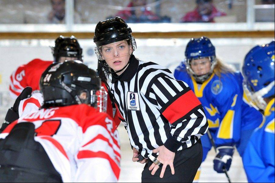 Photo courtesy of Erin BlairErin Blair is looking forward to representing Illinois as a women's hockey referee in the upcoming Sochi Games.