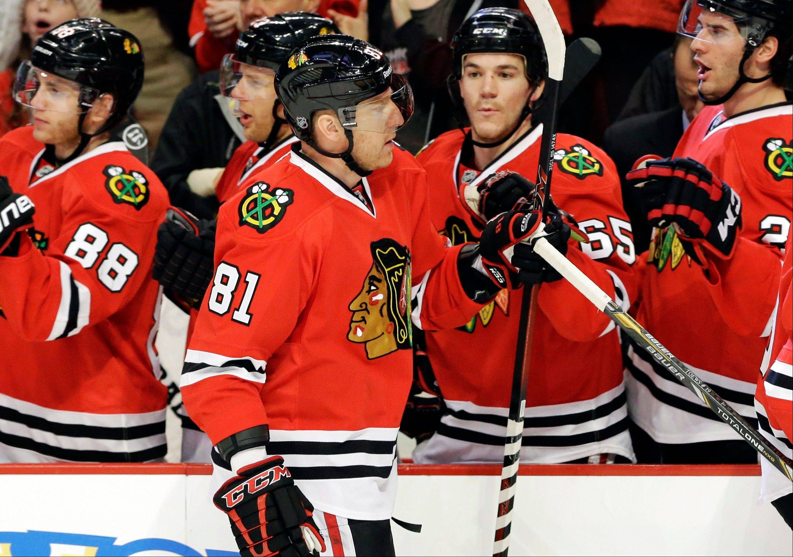Blackhawks coach Joel Quenneville likes how his team has come together with the veteran leadership provided the right attitude and approach to every game and practice.