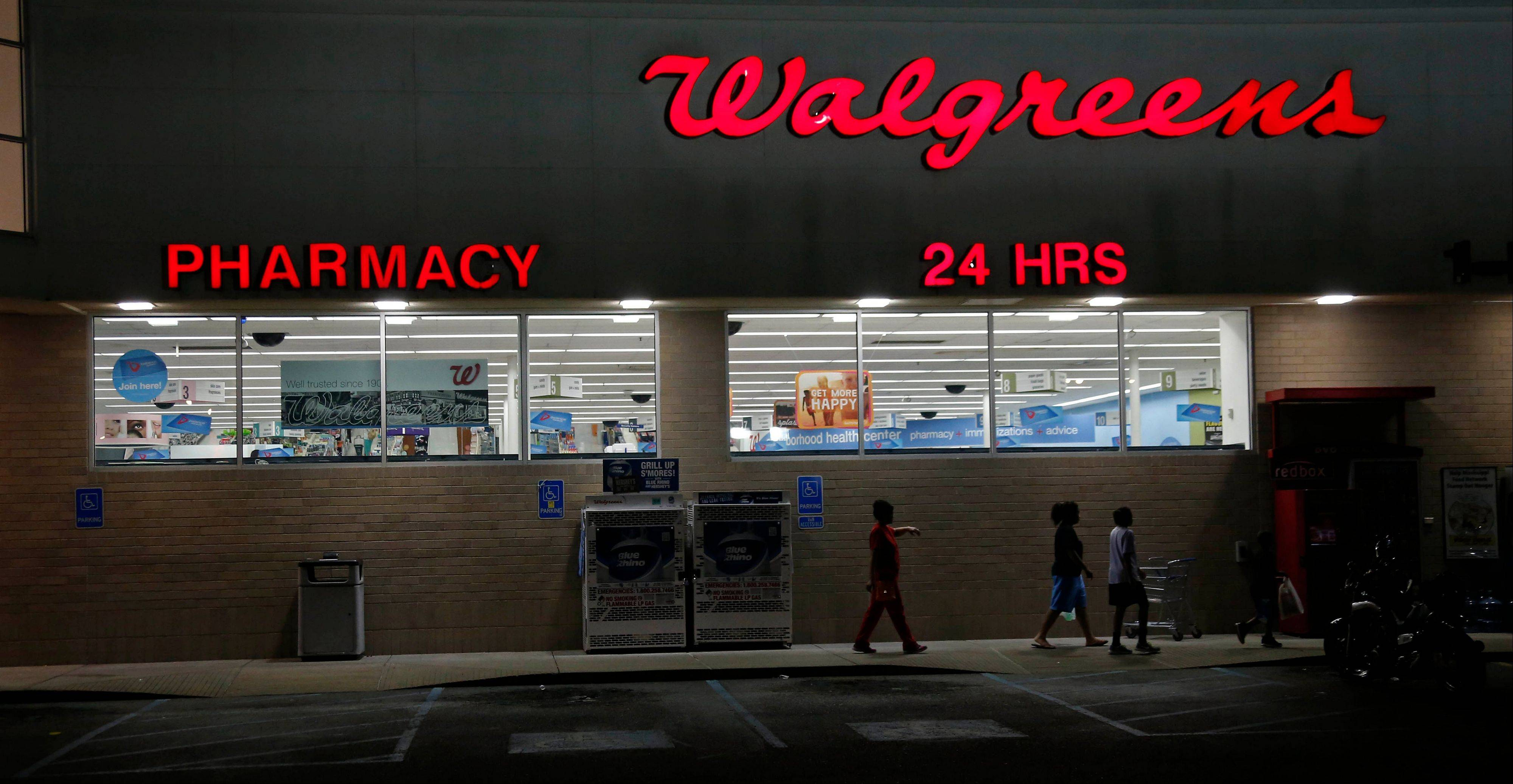 Walgreen�s fiscal first-quarter earnings soared 68 percent as investments in other companies paid off for the nation�s largest drugstore chain, but a slowdown in generic drug introductions helped squeeze profitability.