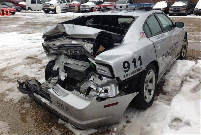 A Barrington man has been charged with aggravated driving under the influence in connection with a rear-end crash Thursday into a Lake County sheriff�s patrol car.