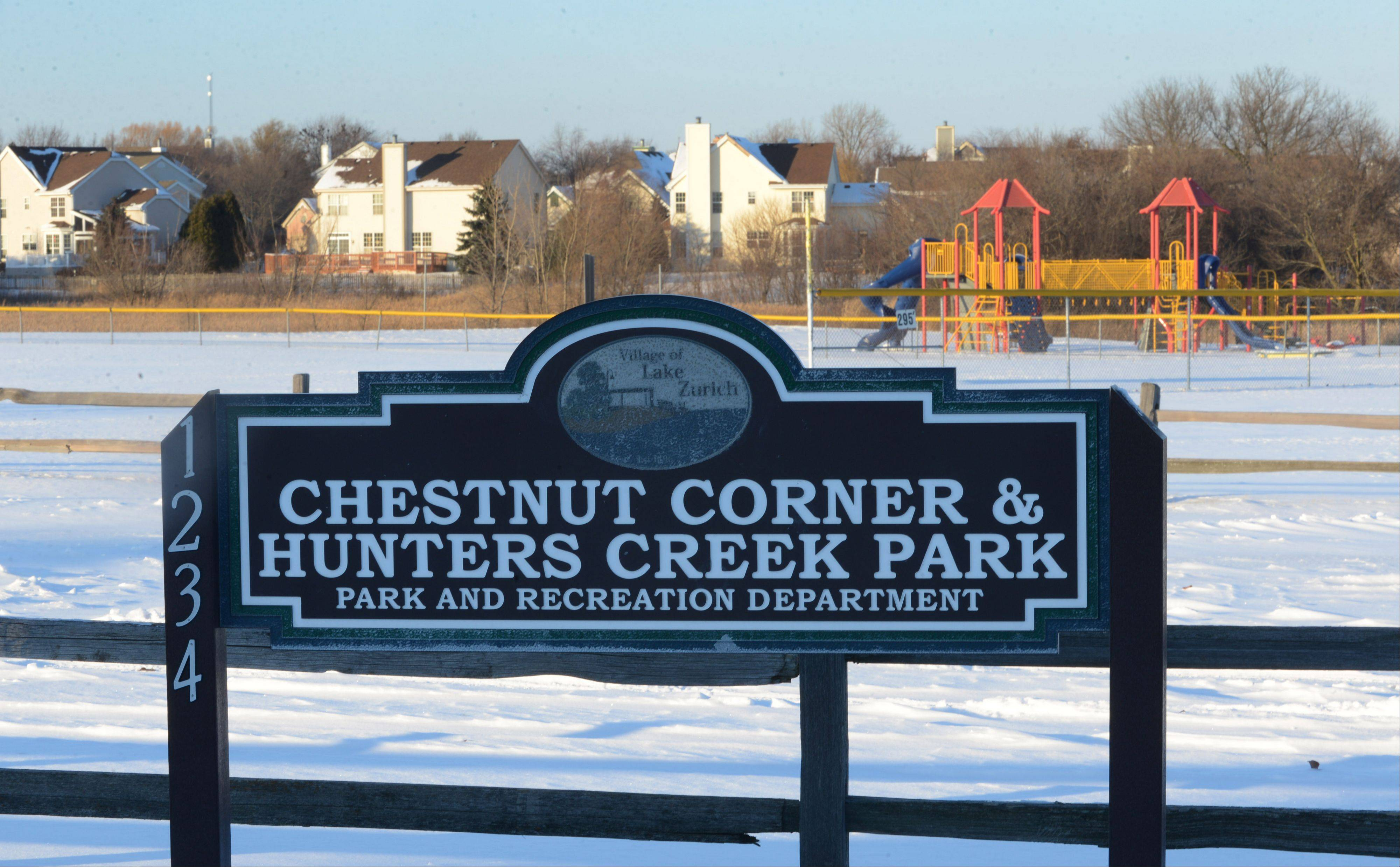 The Chestnut Corners' neighborhood park has a playground, two baseball diamonds and a sand volleyball court.