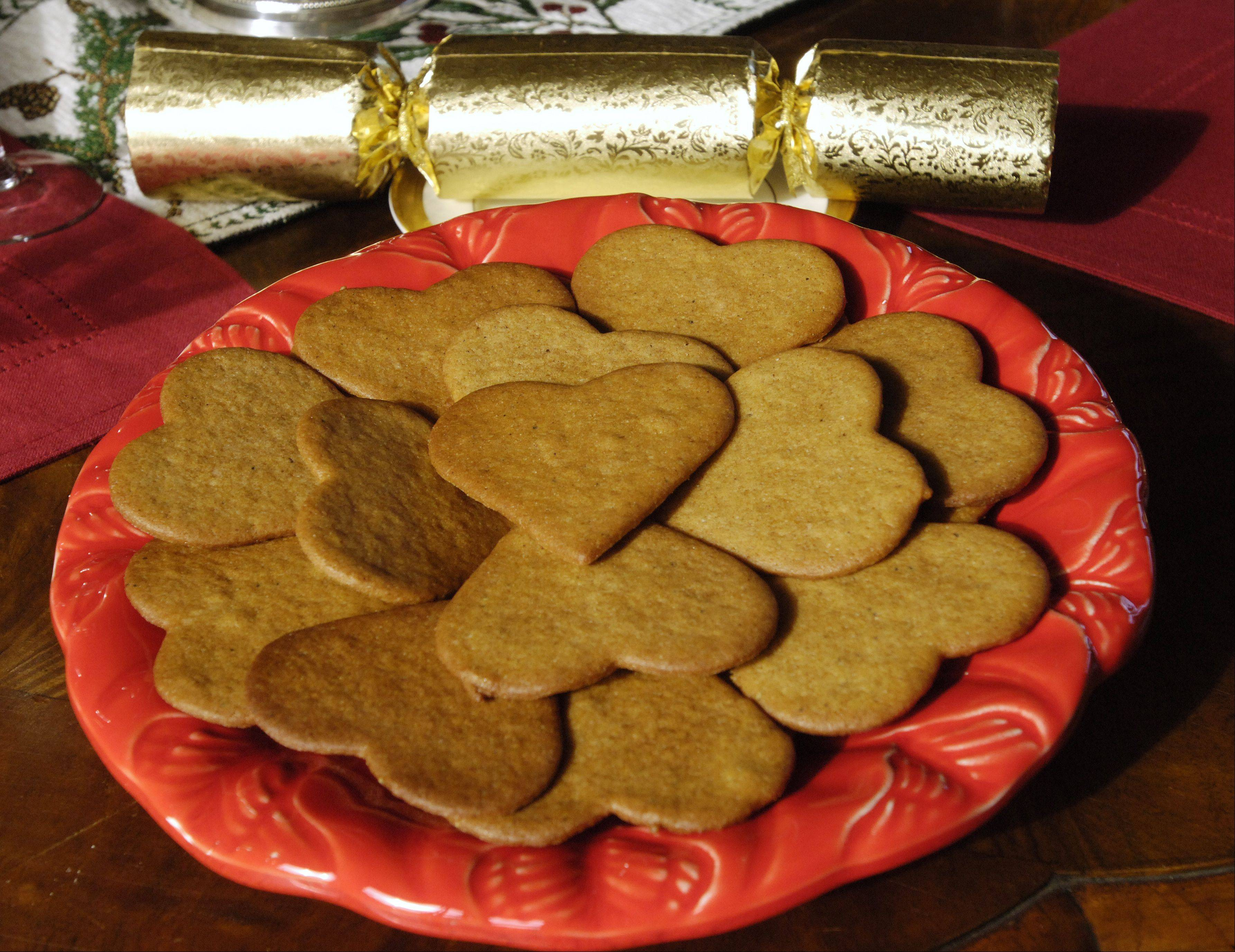 Pepparkakor, or ginger cookies, are among the traditional Swedish cookies baked at Christmastime.