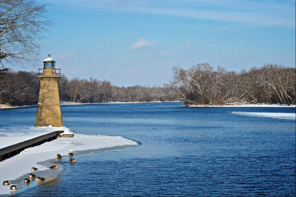 The Fox River Lighthouse will always stand tall even during the coldest of days. Bordering Geneva and Batavia along the Fox River, the lighthouse provides a nice scene when visiting the nearby parks.