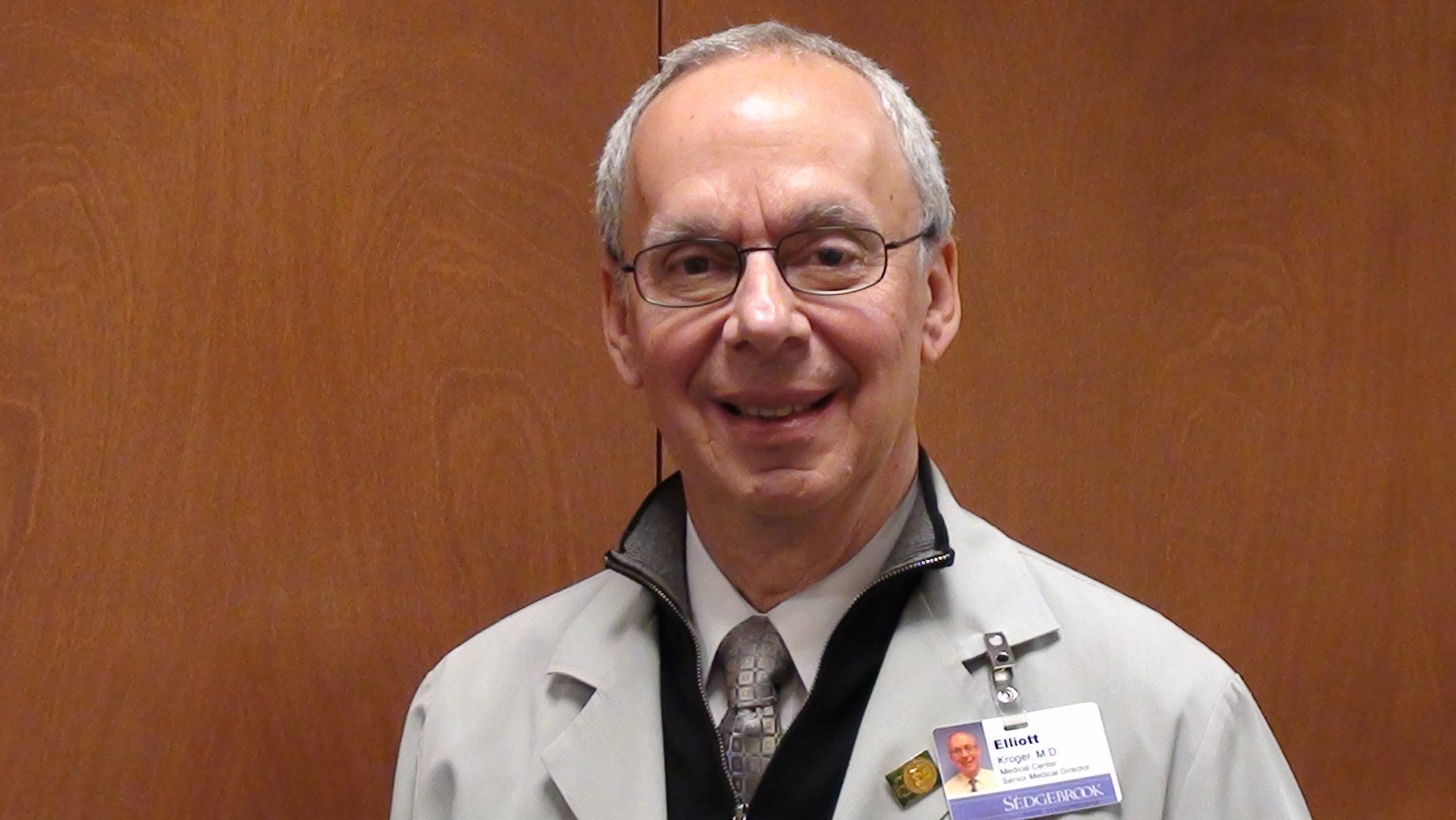 Dr. Elliott Kroger, medical director and onsite physician at Sedgebrook