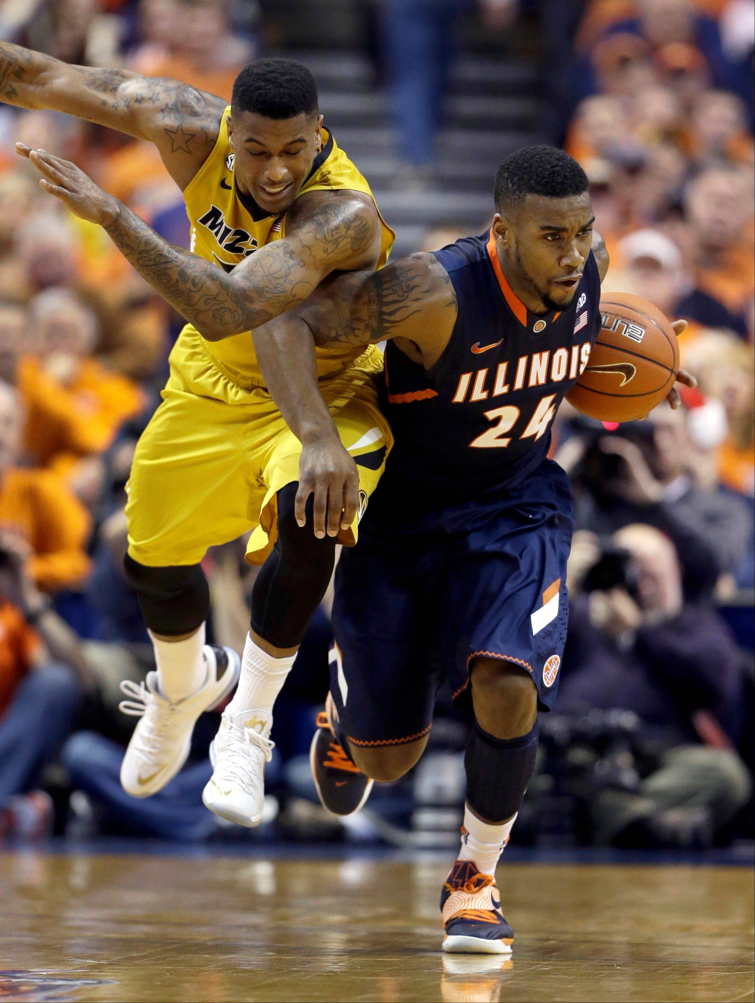 Illinois edges No. 23 Missouri for Braggin' Rights