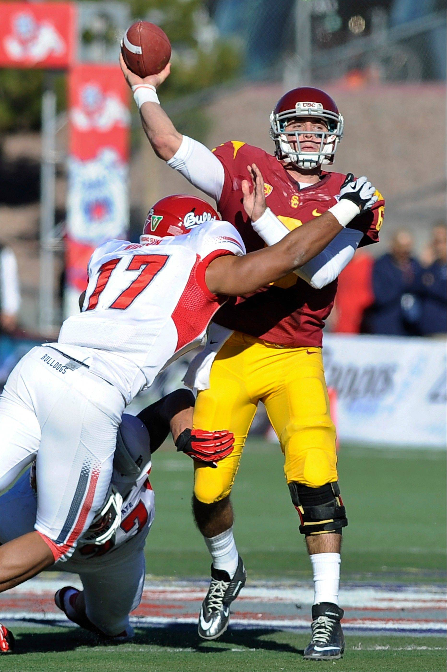 USC routs Fresno St. in Las Vegas Bowl