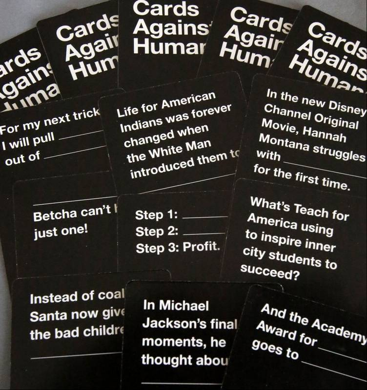 This is a photo of Handy Cards Against Humanity Questions List
