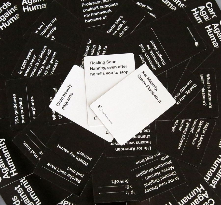 This is a picture of Sizzling Cards Against Humanity Questions List
