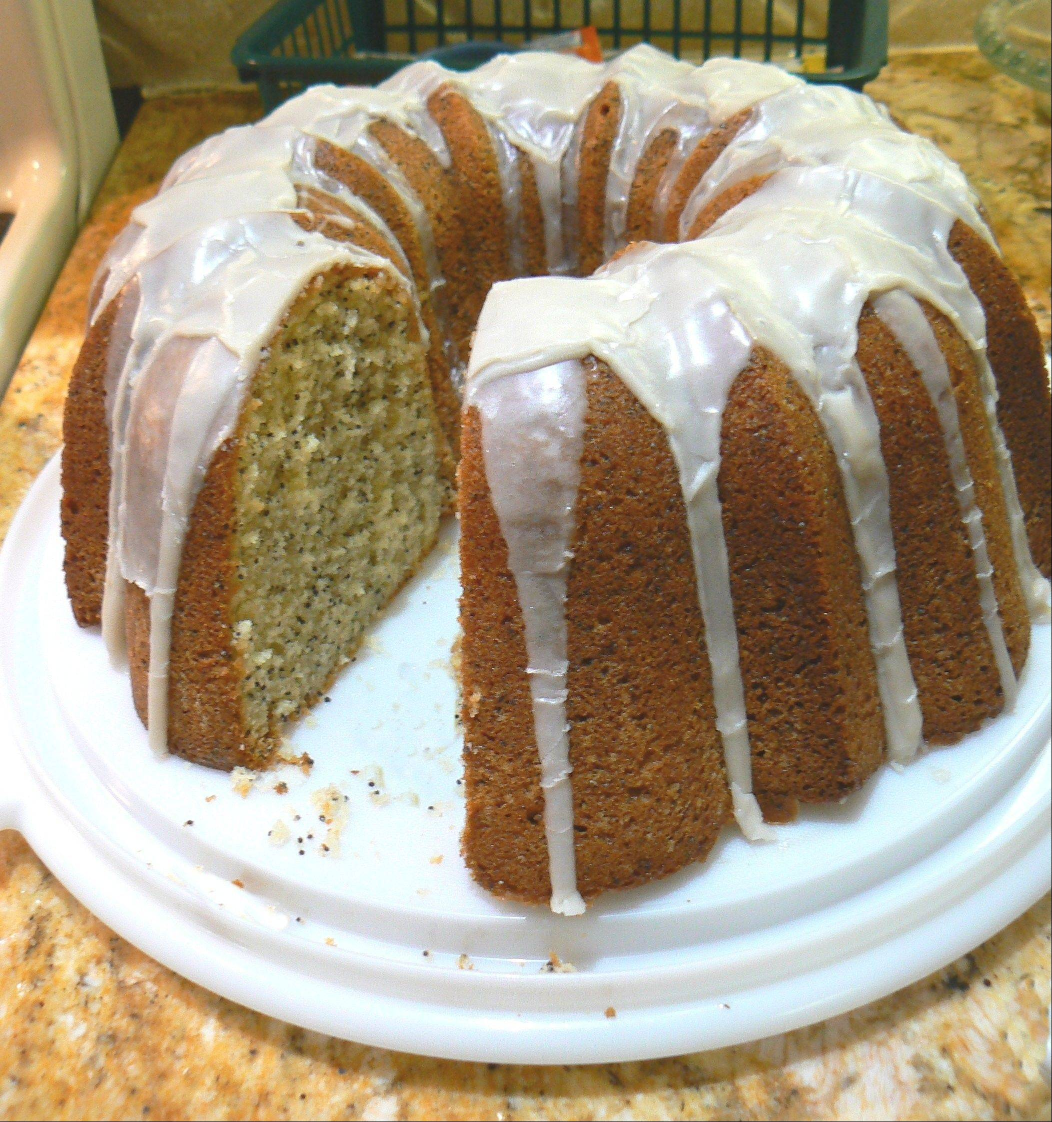 A new bundt pan takes the anxiety out of making Lemon Poppy seed Bundt Cake for holiday guests.