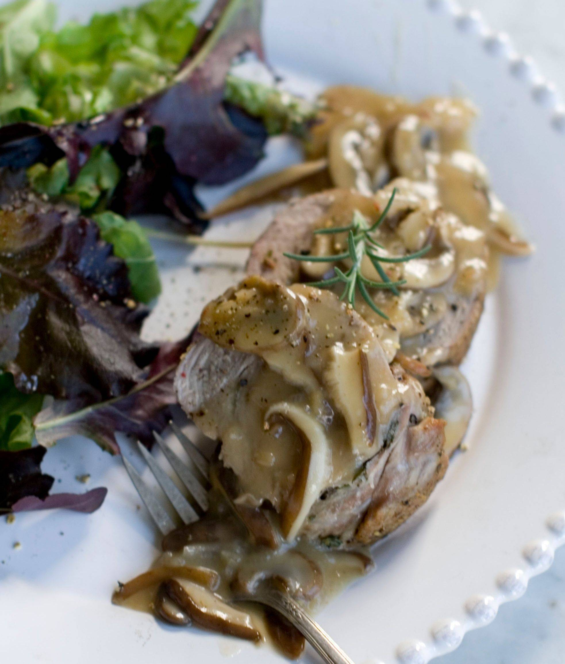 Double Pork Roast with Mushroom Marsala Sauce can be prepped a day in advance so cooks don't have to be tied to the kitchen when holiday guests arrive.