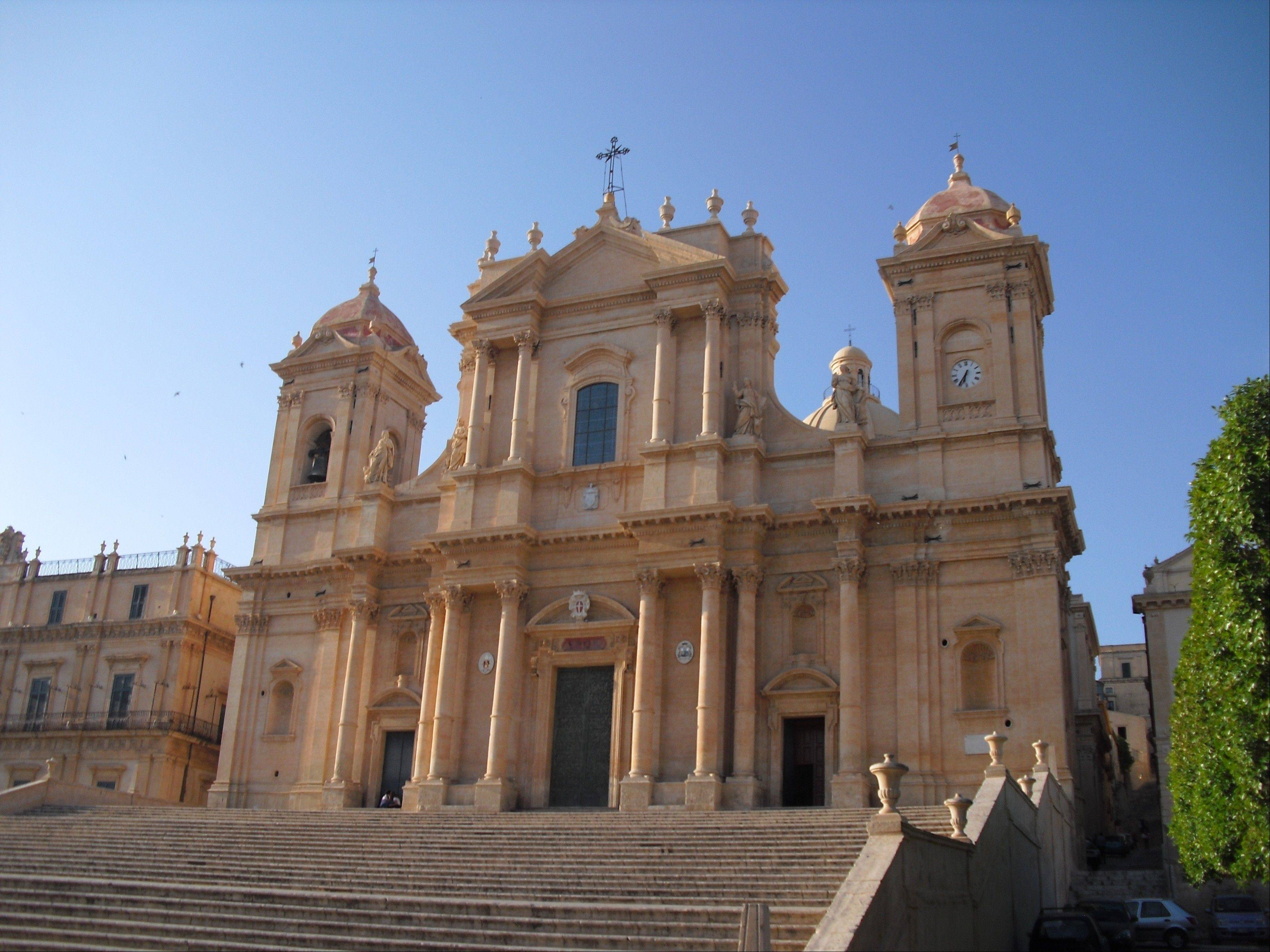 The dome of the baroque San Nicolo Cathedral in the Sicilian town of Noto collapsed in 1996, and the structure was rebuilt and reopened in 2007.