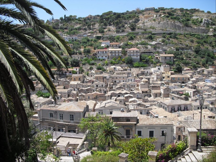 Check out the view of the city of Modica from the steps of the Chiesa di San Giorgio in Sicily. The town that fills a ravine requires the willingness to tackle a lot of hills and stairs.