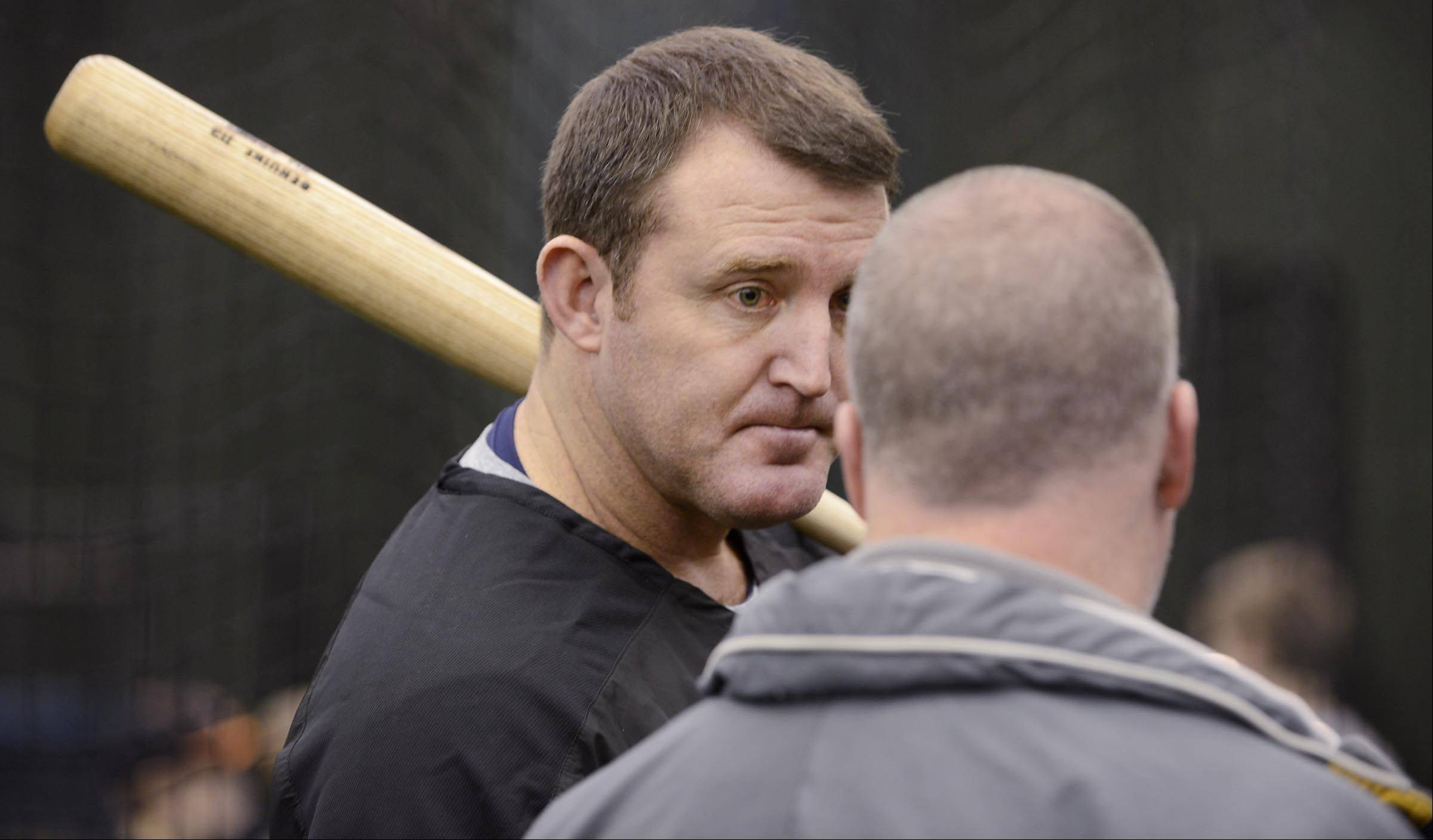 "Five-time Major League Baseball All-Star and former Chicago White Sox player Jim Thome was at the Chicago Bulls/White Sox Academy in Lisle on Sunday giving a hitting clinic for young players. ""This is great. It's fun to give back,"" Thome said."