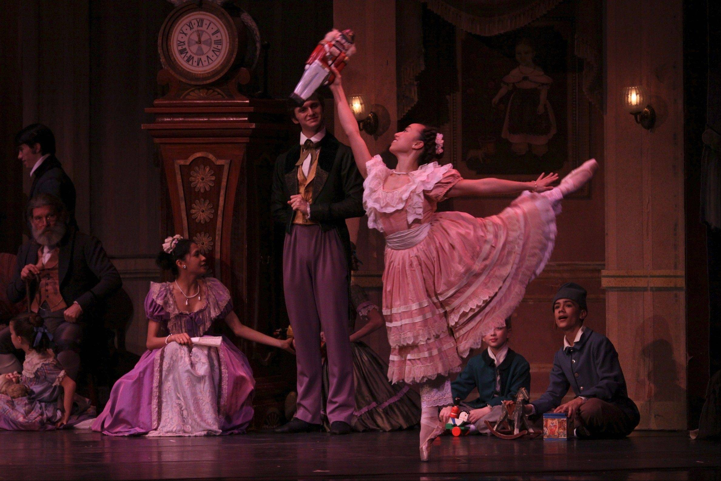 "Anastacia Holden is one of the Joffrey Ballet company dancers who rotates in the role of Clara in Robert Joffrey's production of ""The Nutcracker,"" playing at the Auditorium Theatre of Roosevelt University in Chicago through Saturday, Dec. 28."