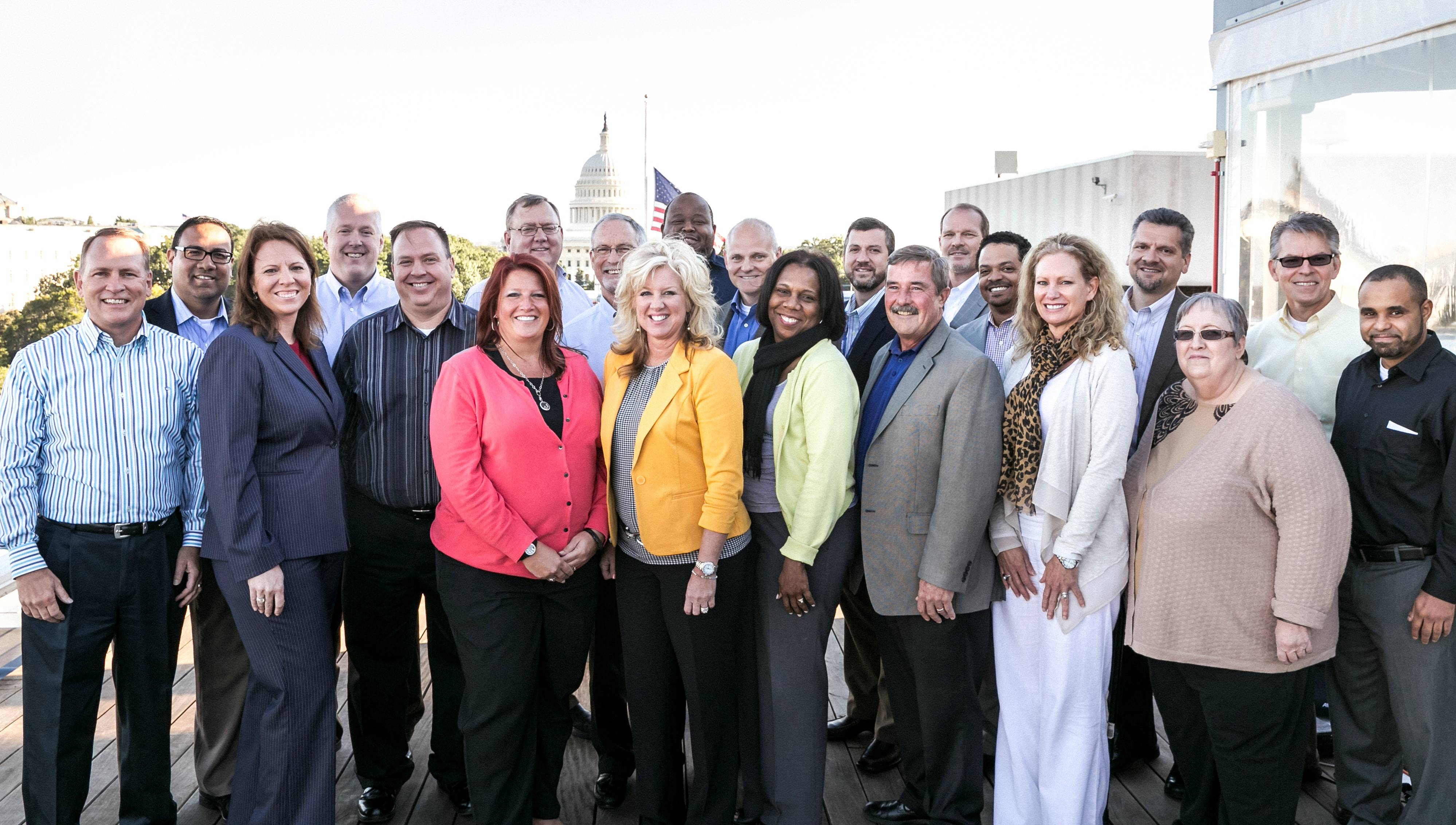 Allstate employees and agency owners on Capitol Hill to meet with Congressional leaders on key insurance issues.