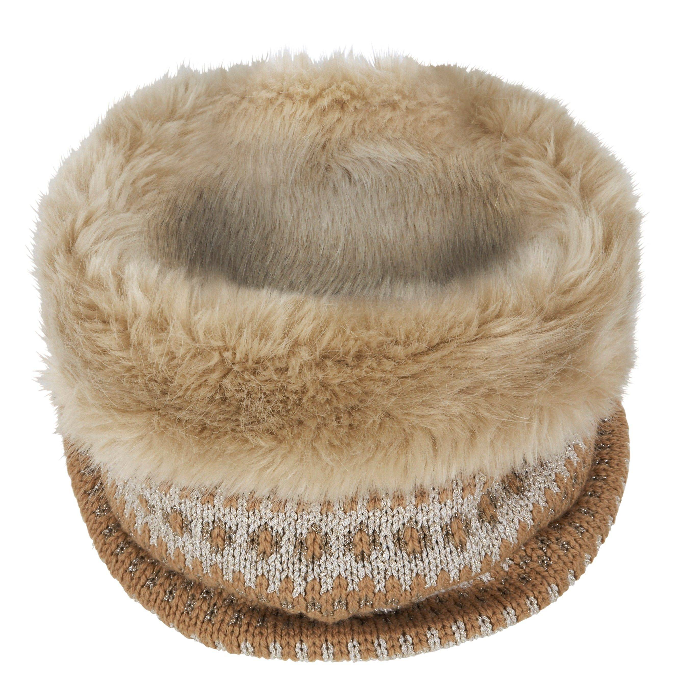 This undated image provided by Banana Republic shows Banana Republic�s Fair Isle Faux-Fur Neckwarmer.