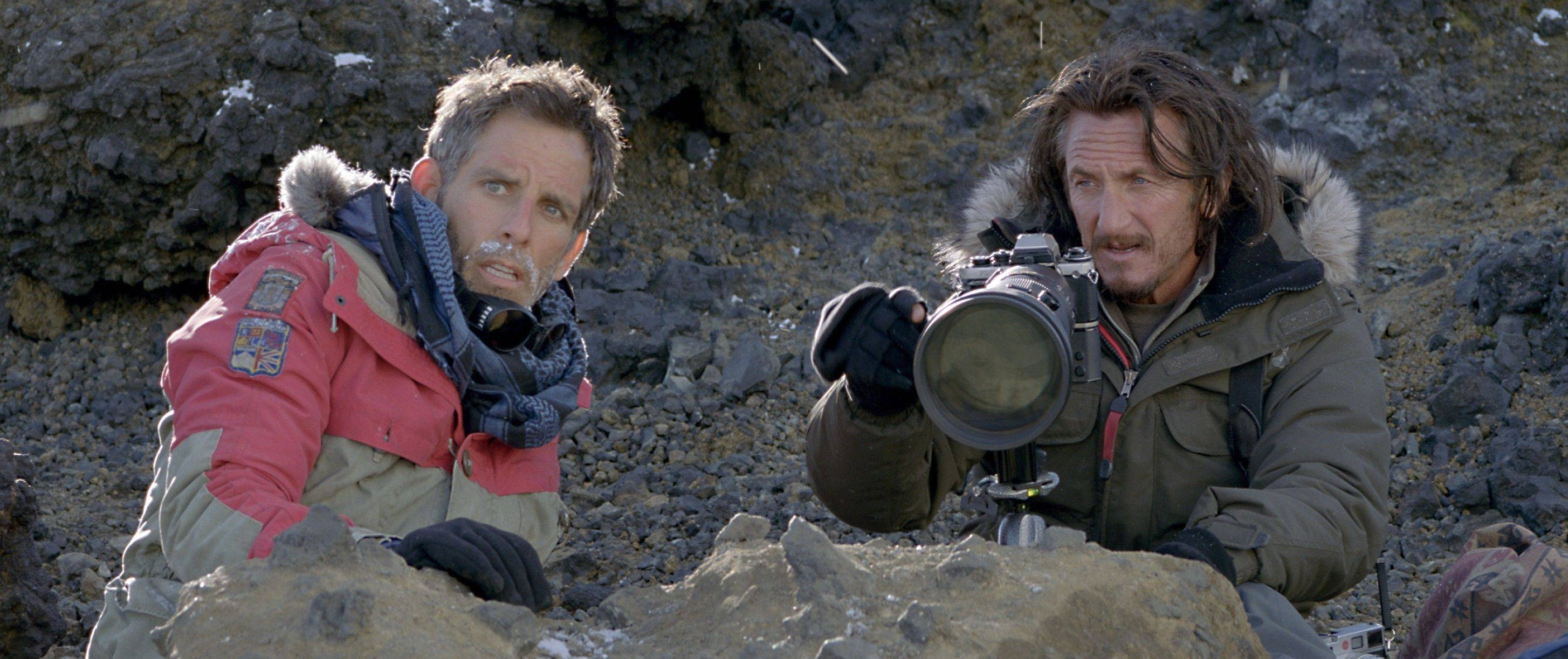 "Walter Mitty (director Ben Stiller) tracks down reclusive Life magazine photographer Sean O'Connell (Sean Penn) in ""The Secret Life of Walter Mitty."""