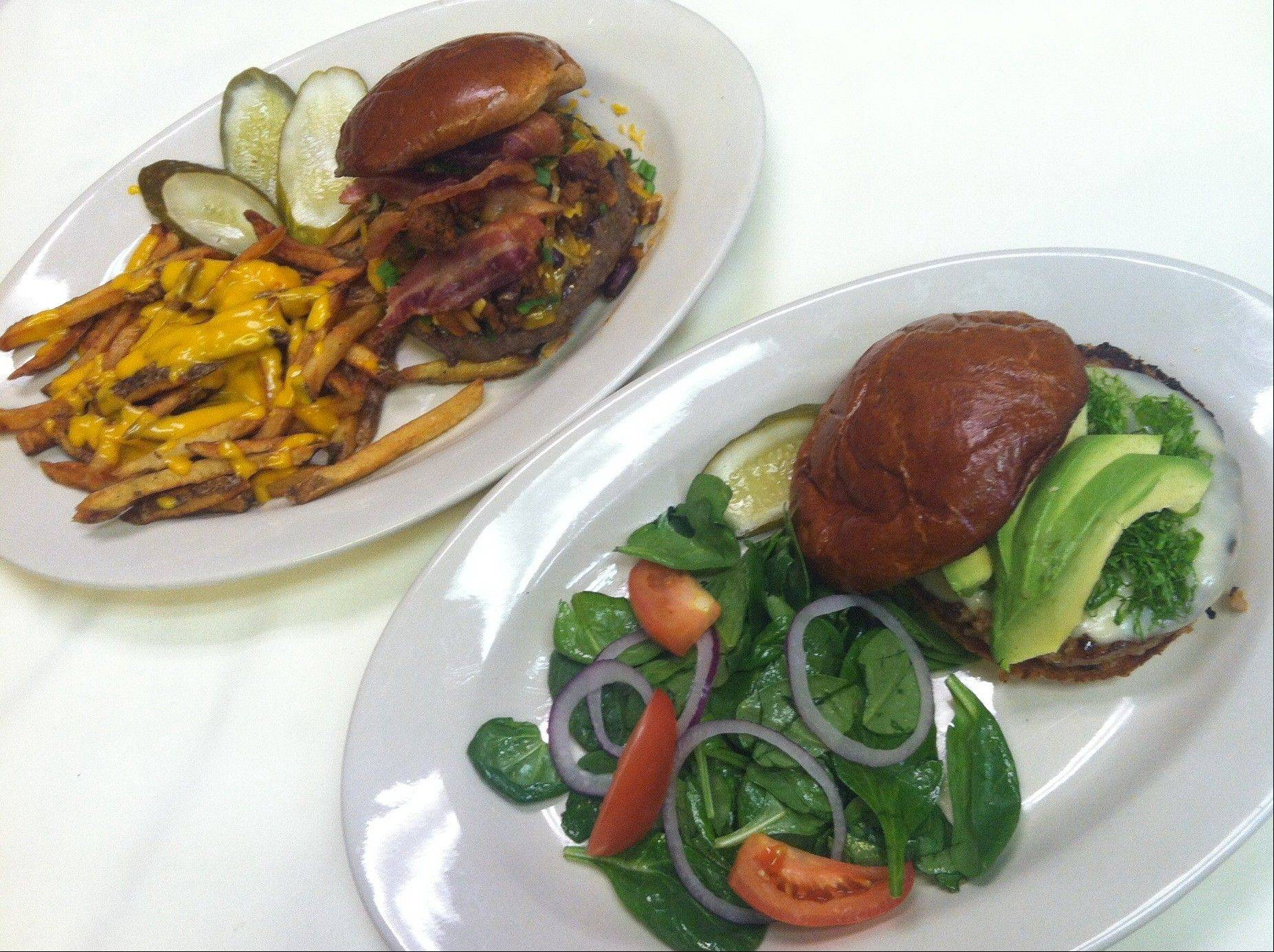 Wickets' burger competition features a lean turkey burger and a loaded up sinful burger.