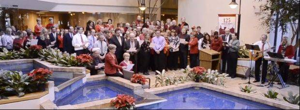 "Daily Herald employees sing ""Hark! The (Daily) Herald Sings"" in a Christmas video to our readers."