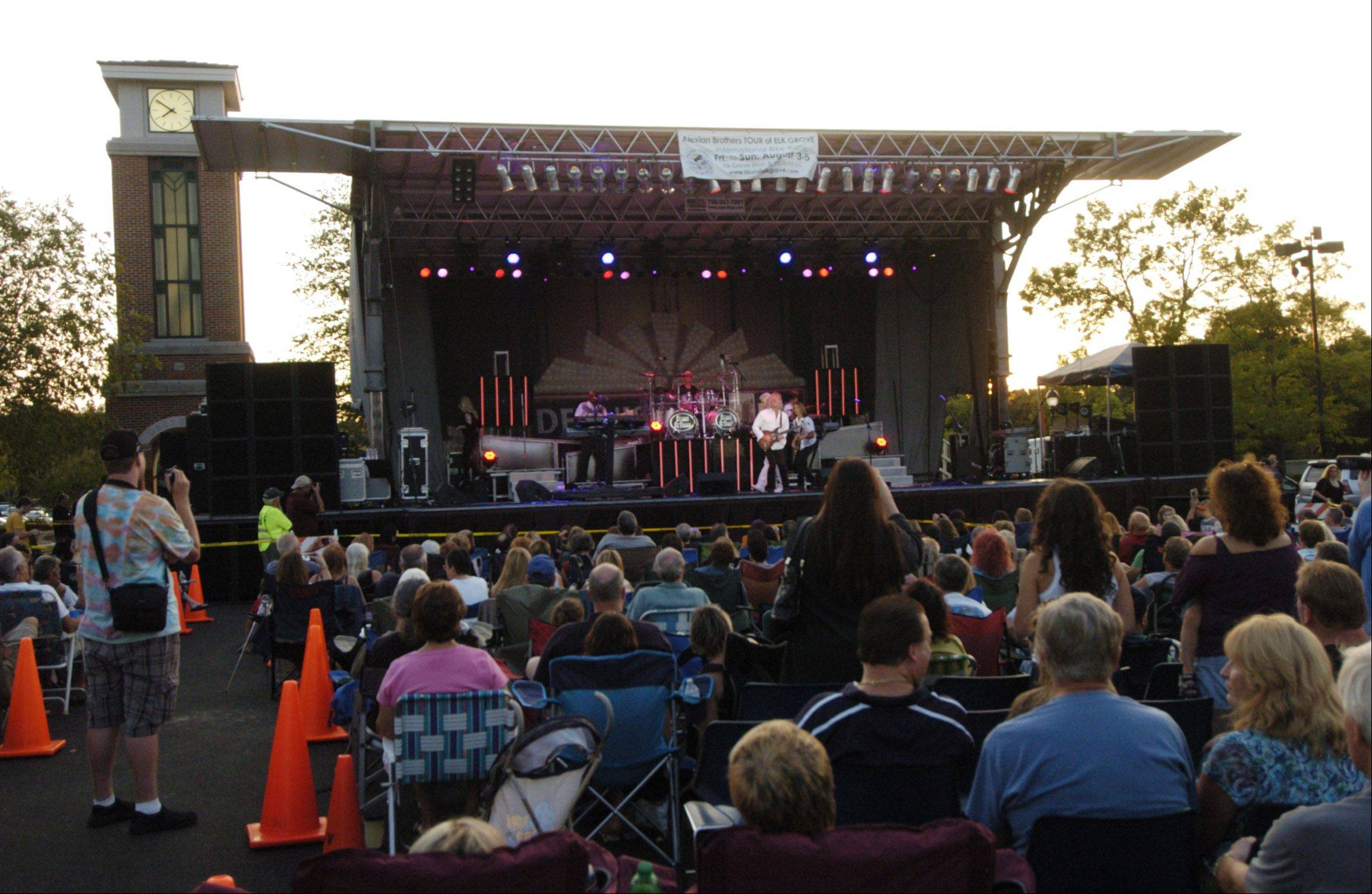 Elk Grove Village is paying Entertainment Management Group $310,000 to manage and operate its 2014 summer concert series, which will feature five concerts over the course of five consecutive Tuesdays.