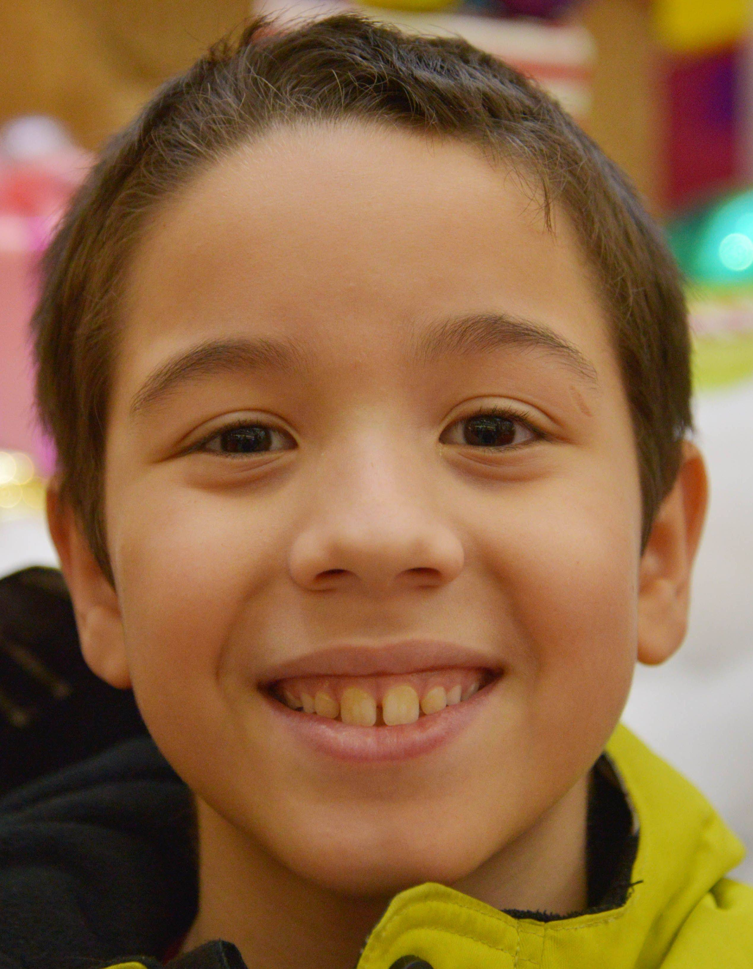 "Elijah Lurigio, 9, of Downers Grove, wants Hobbit toys, Marvel toys and ""The Lord of the Rings"" Legos, to name a few."