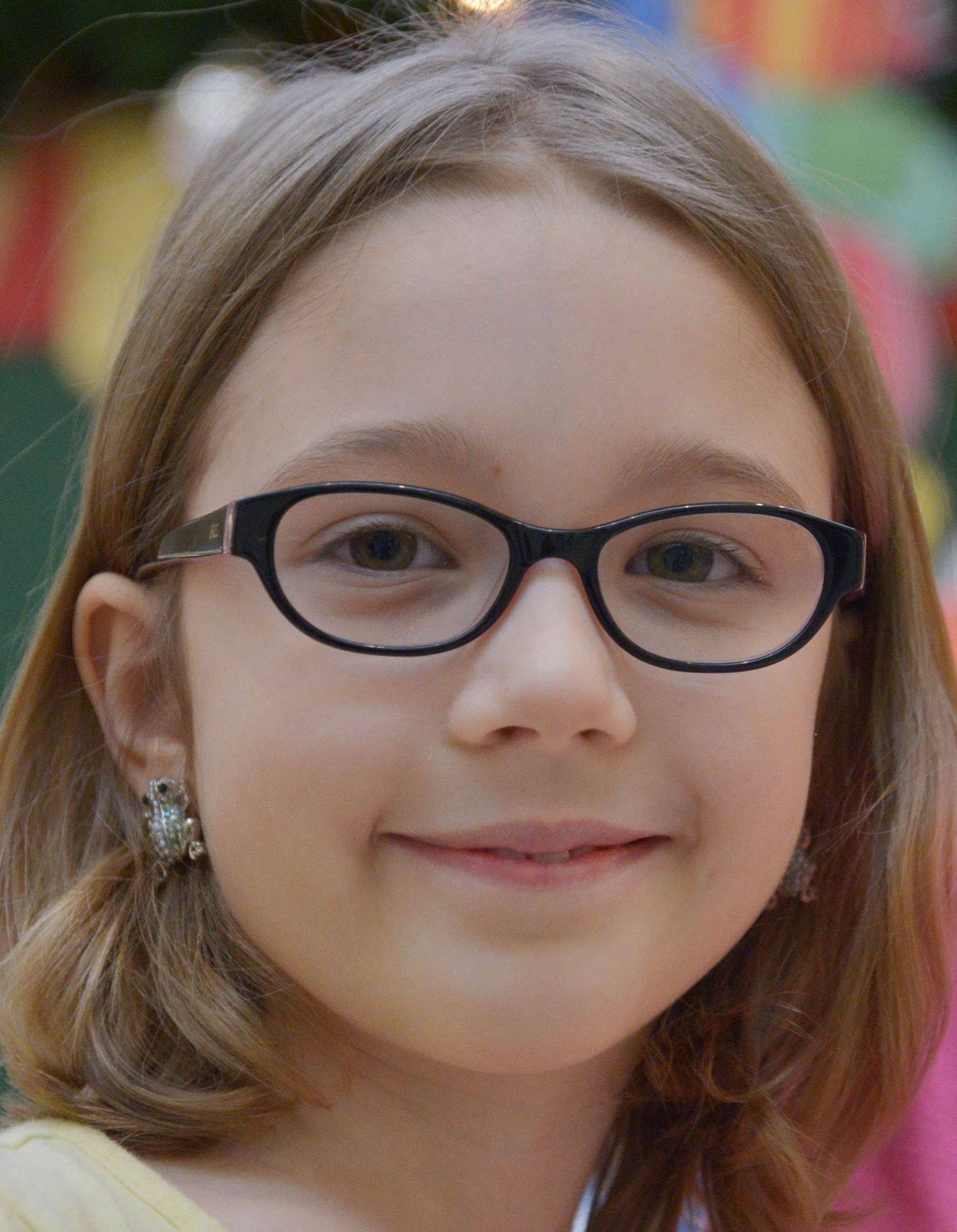 Abby Tubacki, 8, of Westmont, wants an iPod Touch and a Nintendo 3DS game system.