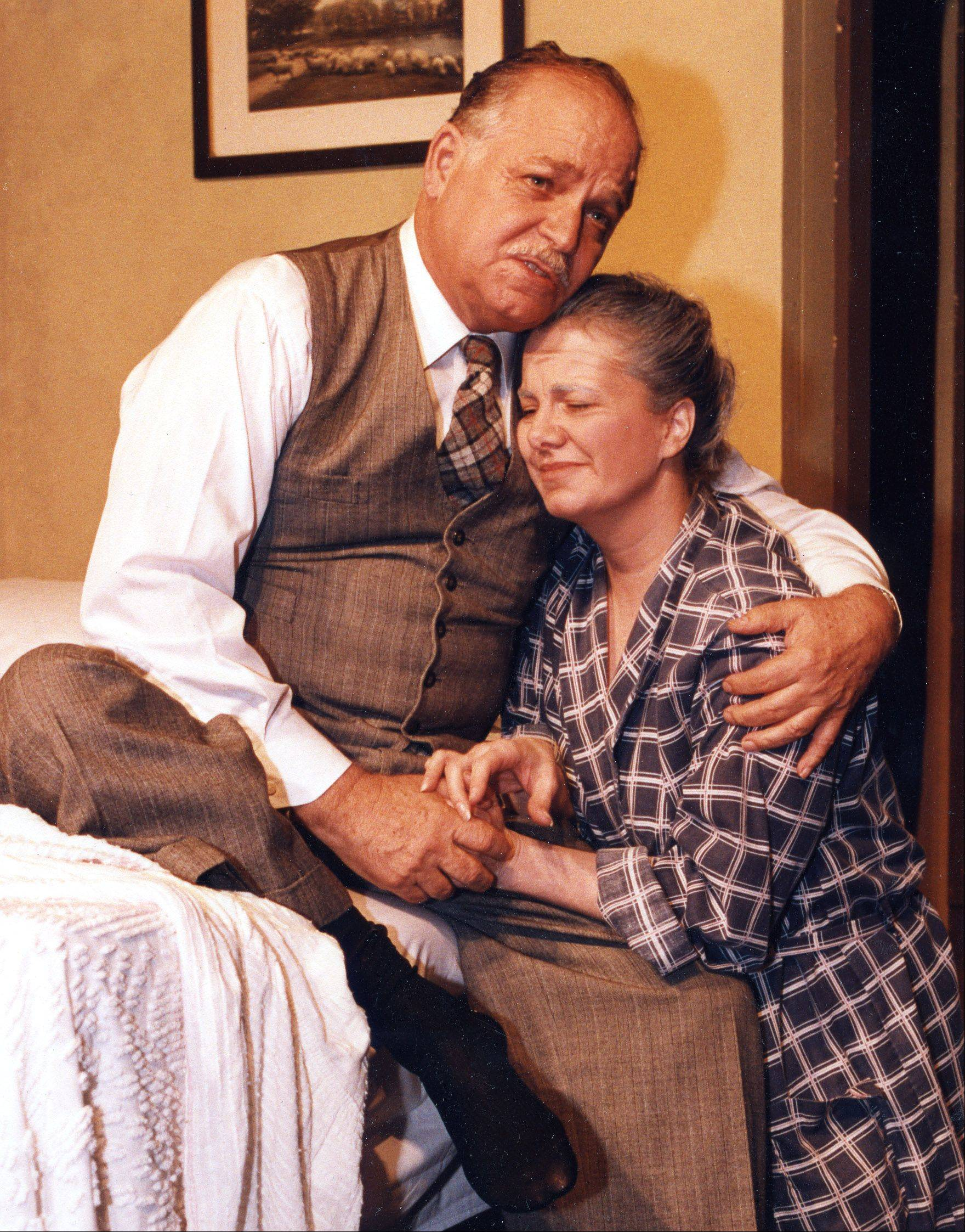 "John Lynn and daughter-in-law Paddy Lynn in Kirk Players' ""Death of a Salesman"". John Lynn died in 2013."