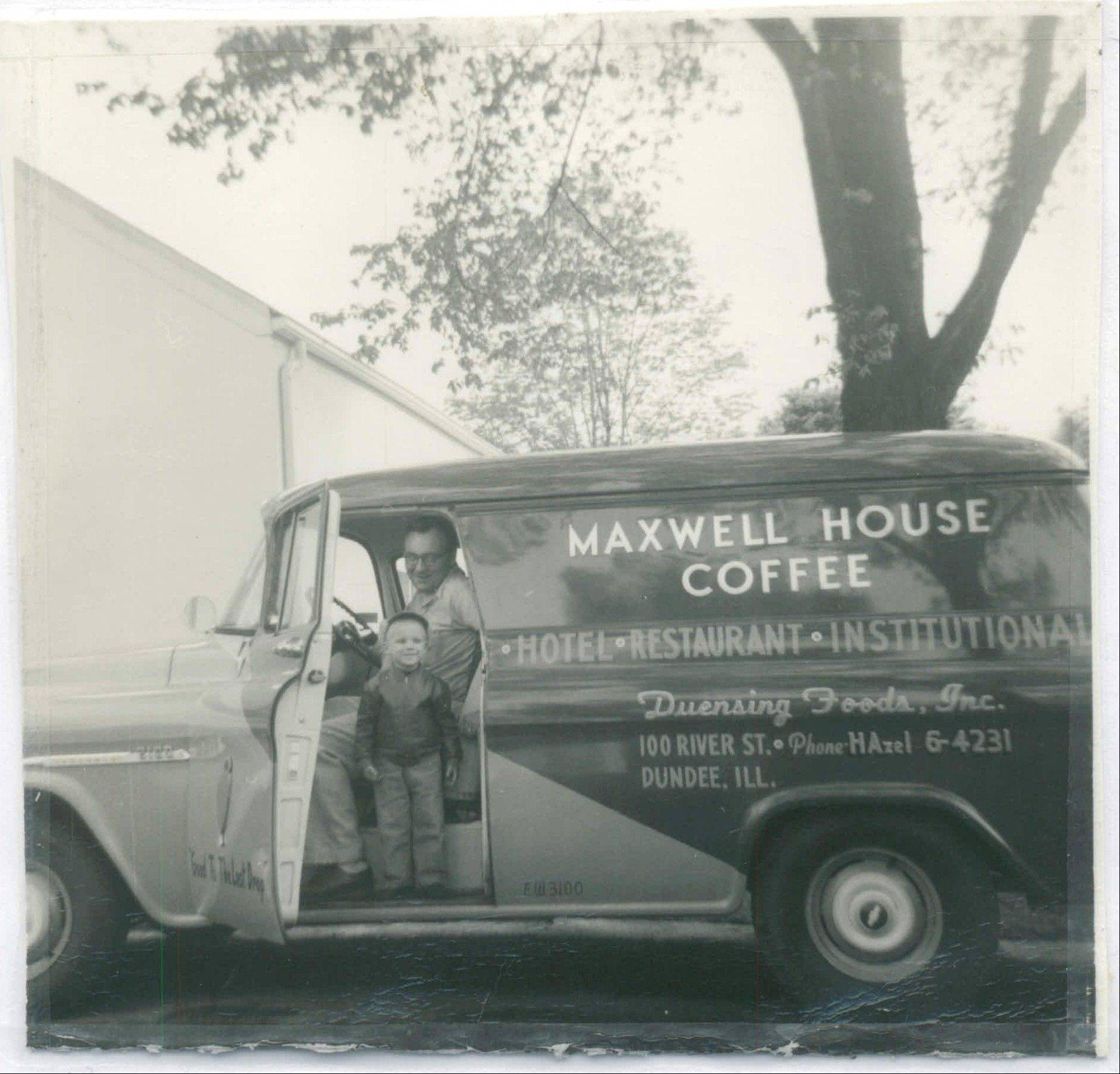Don Duensing shows his then 3-year-old son Tom life on the road as a food distributor back in 1956.