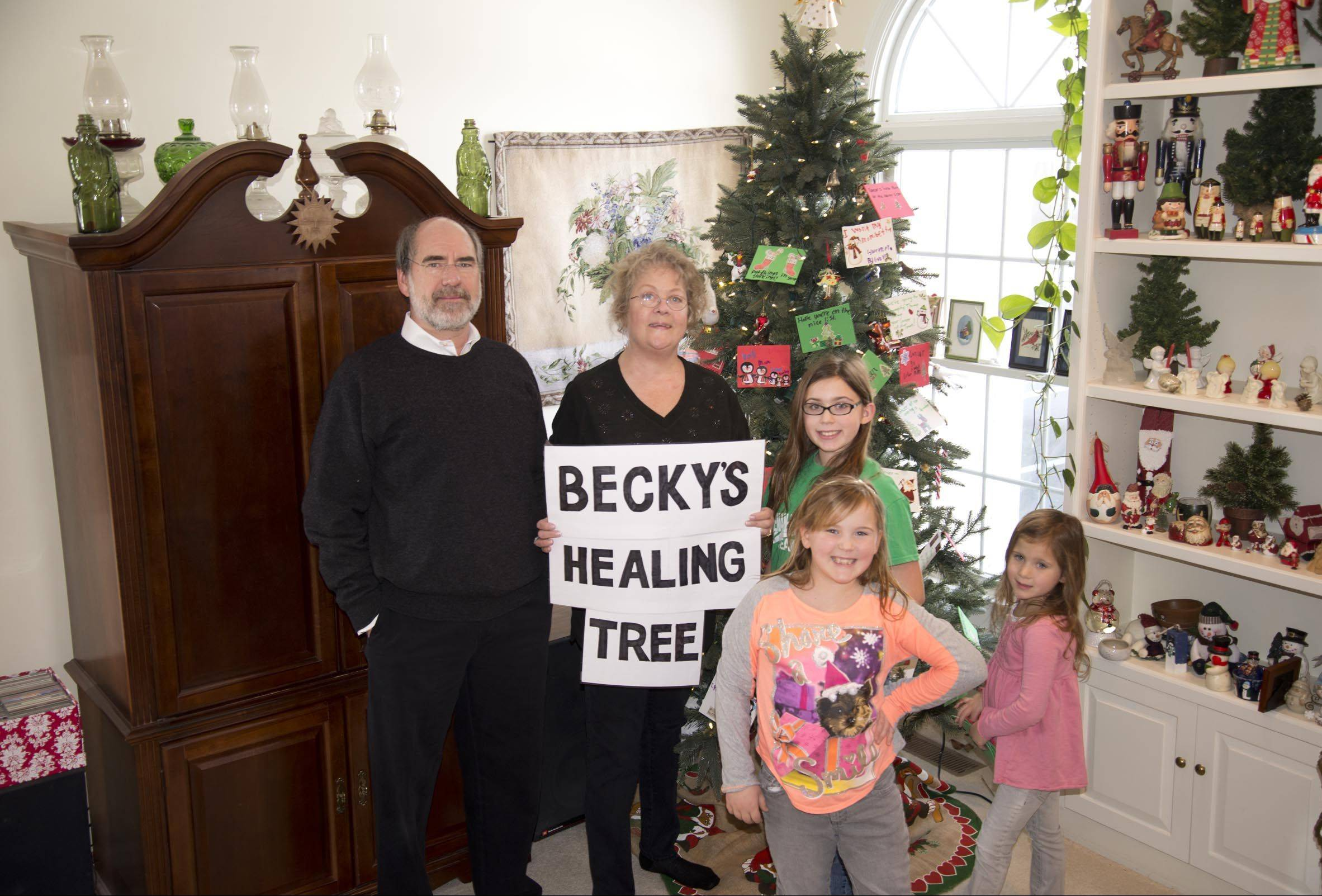 Karen Beith, center, with her husband, Bill, and granddaughters Grace, Gretchen and Gabby.