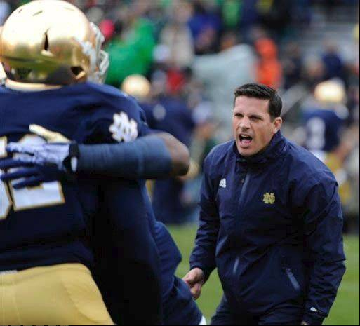Bob Diaco won�t be on the sideline as defensive coordinator when Notre Dame plays Rutgers in the Pinstripe Bowl. Diaco�s now the head coach for UConn.