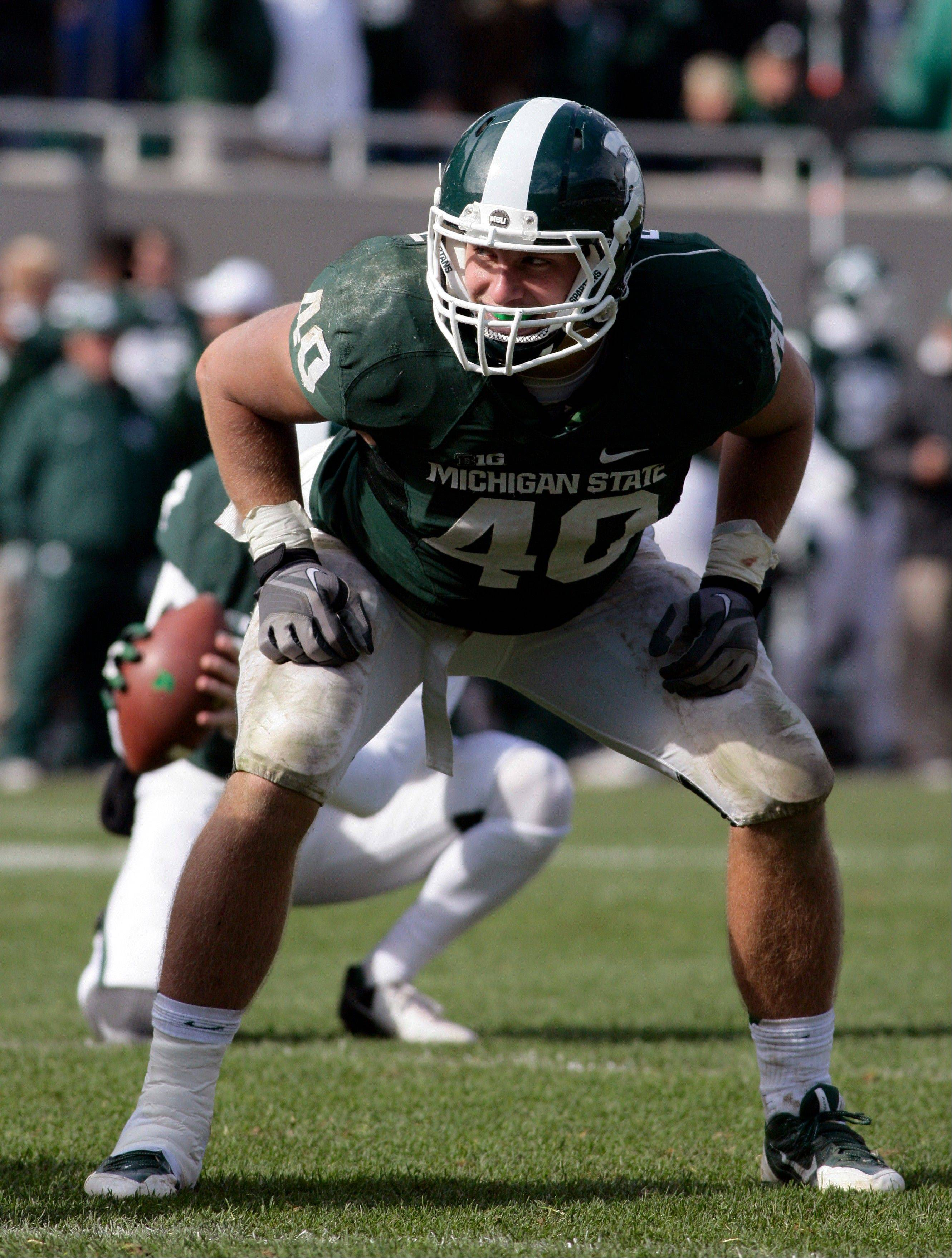 Michigan State linebacker Max Bullough has been suspended by the team and won�t play in the Rose Bowl. He finished the season with 76 tackles, including 9� for a loss.