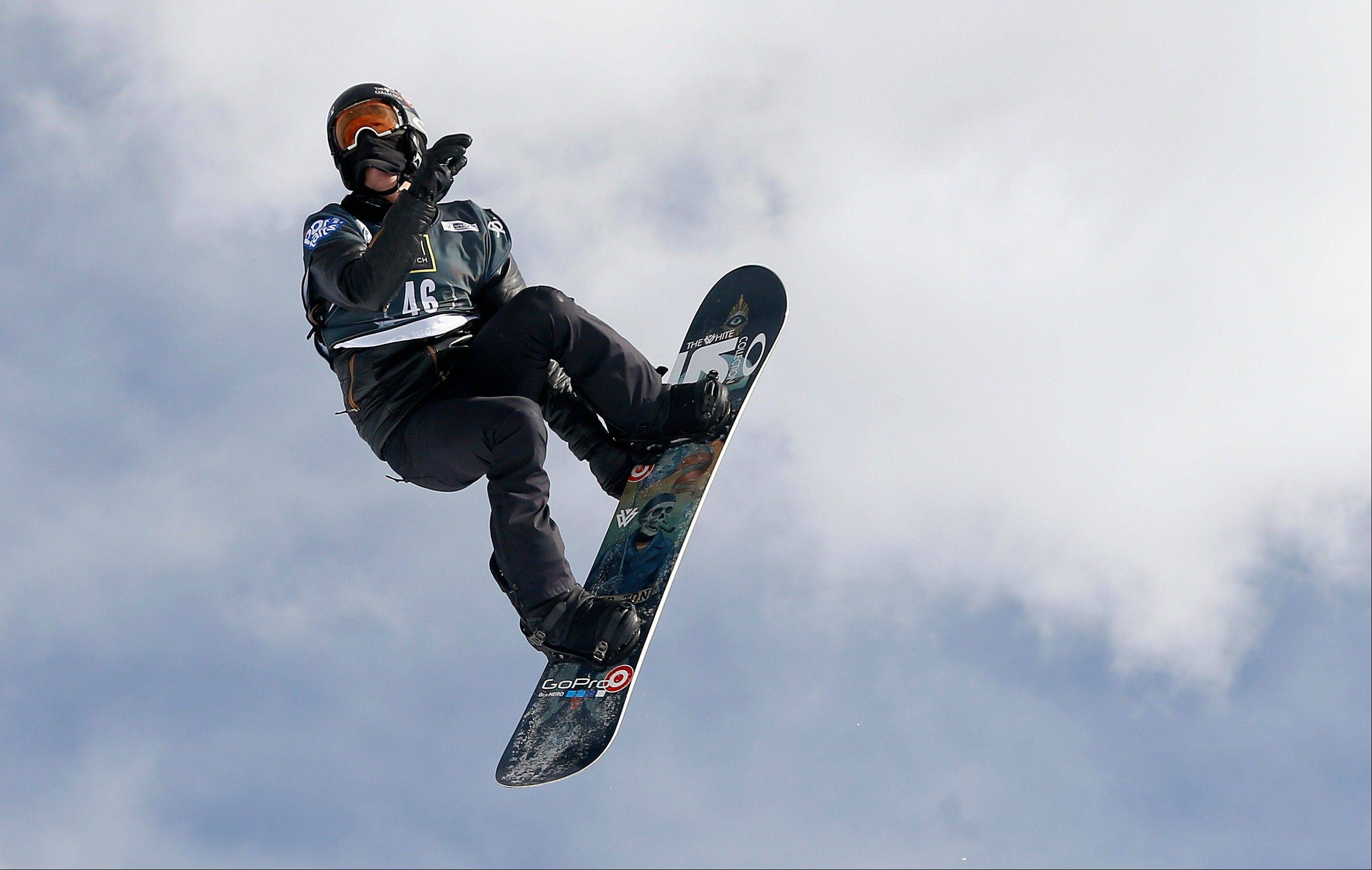 Shaun White flies off a jump during the World Cup U.S. Grand Prix snowboarding qualifications Dec. 19 in Frisco, Colo.